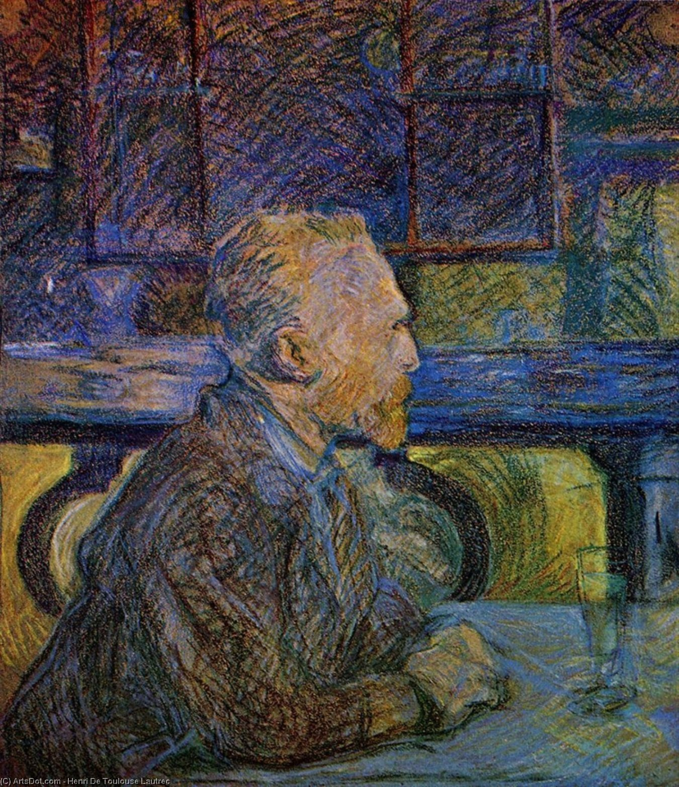 Vincent van Gogh, Oil On Panel by Henri De Toulouse Lautrec (1864-1901, France)