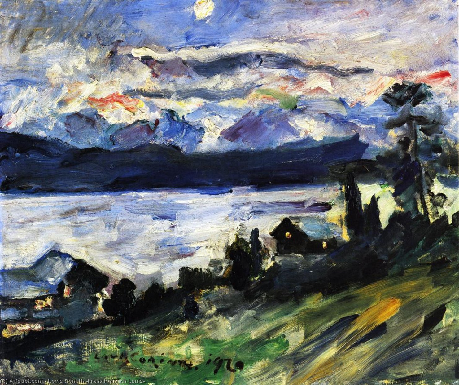 The Walchensee on Saint John's Eve, Painting by Lovis Corinth (Franz Heinrich Louis) (1858-1925, Netherlands)