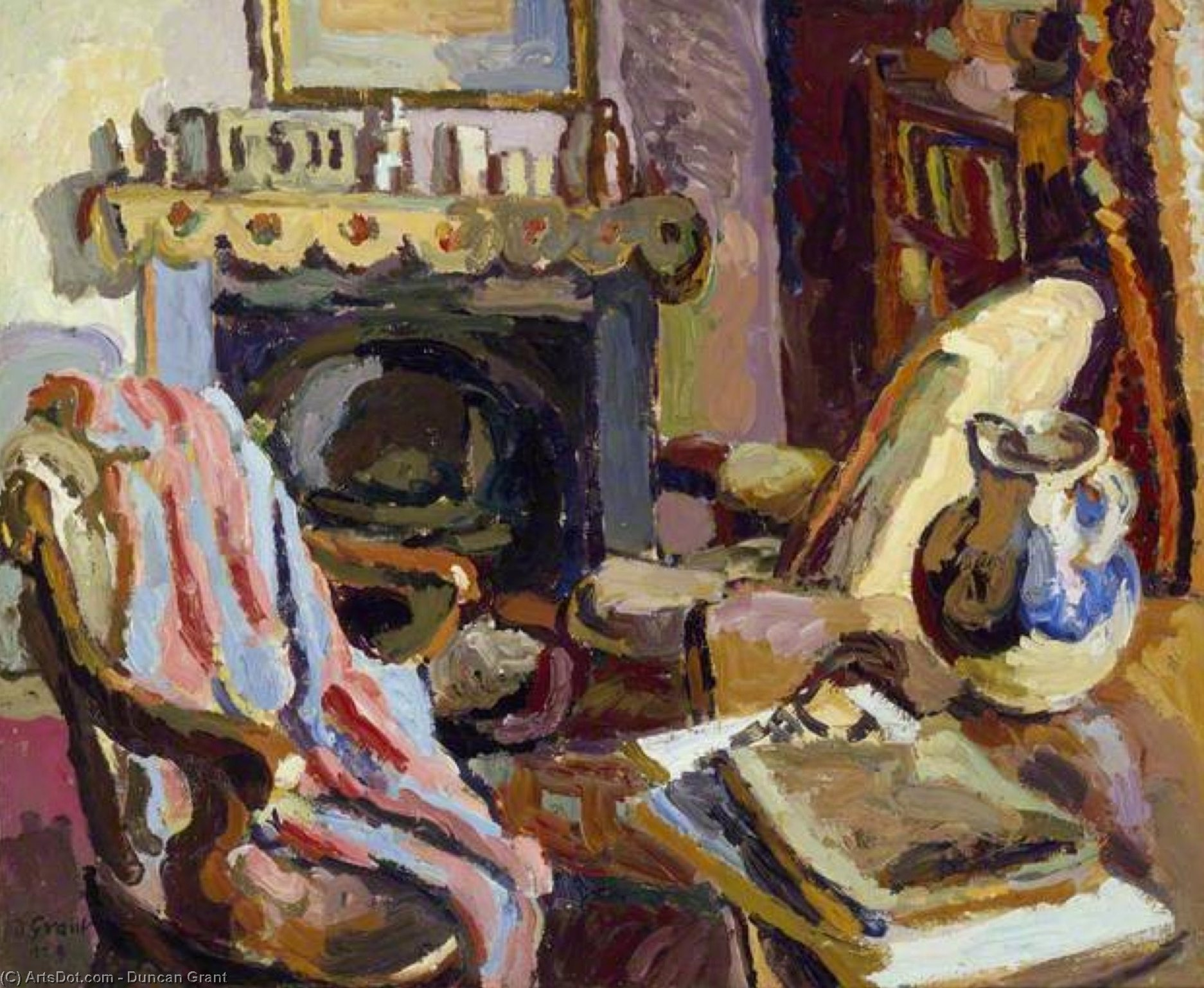 Interior by Duncan Grant (1885-1978, Scotland)