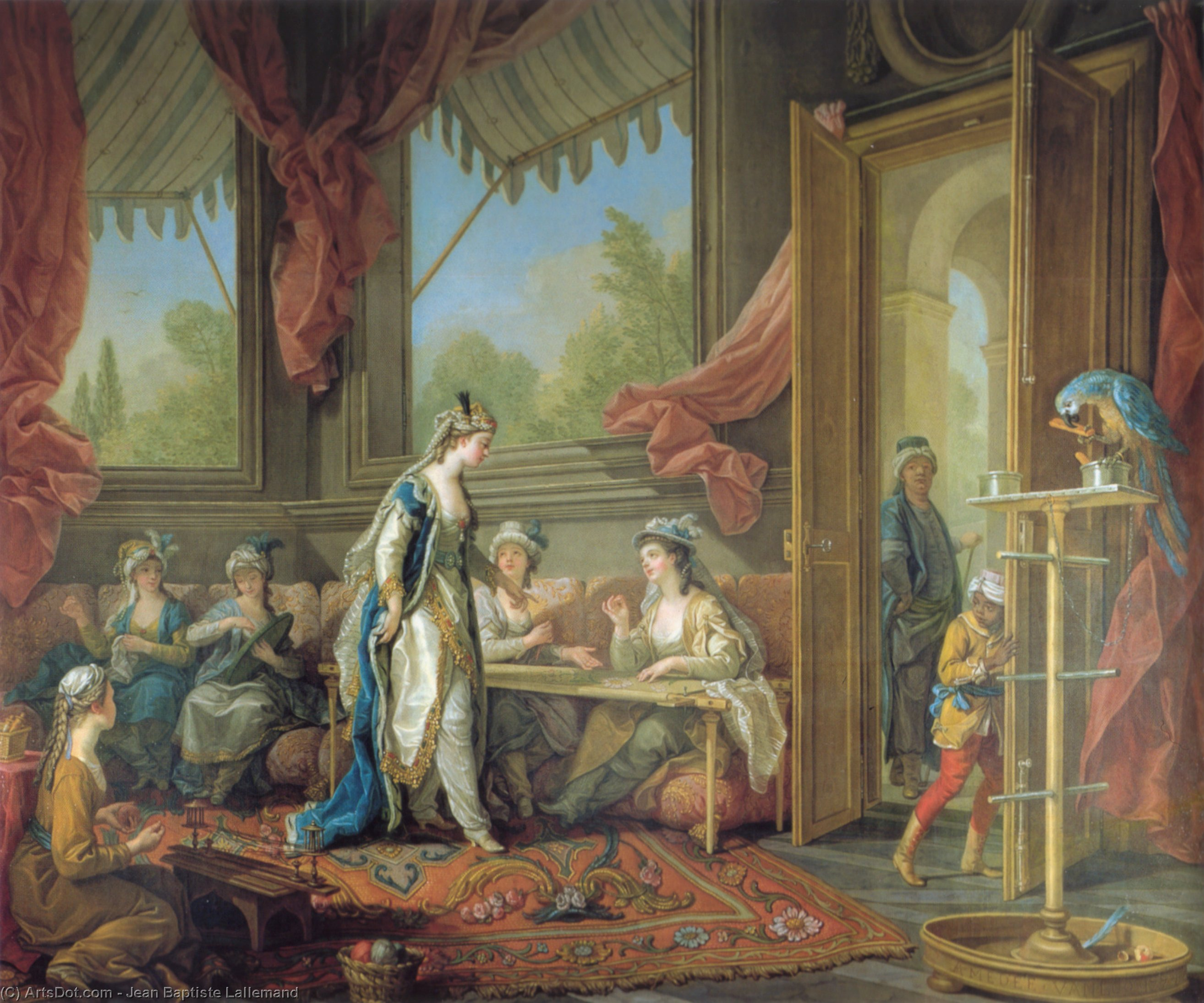 The Sultana Set Work Of The Odalisques by Jean Baptiste Lallemand (1716-1803, France) | Painting Copy | ArtsDot.com