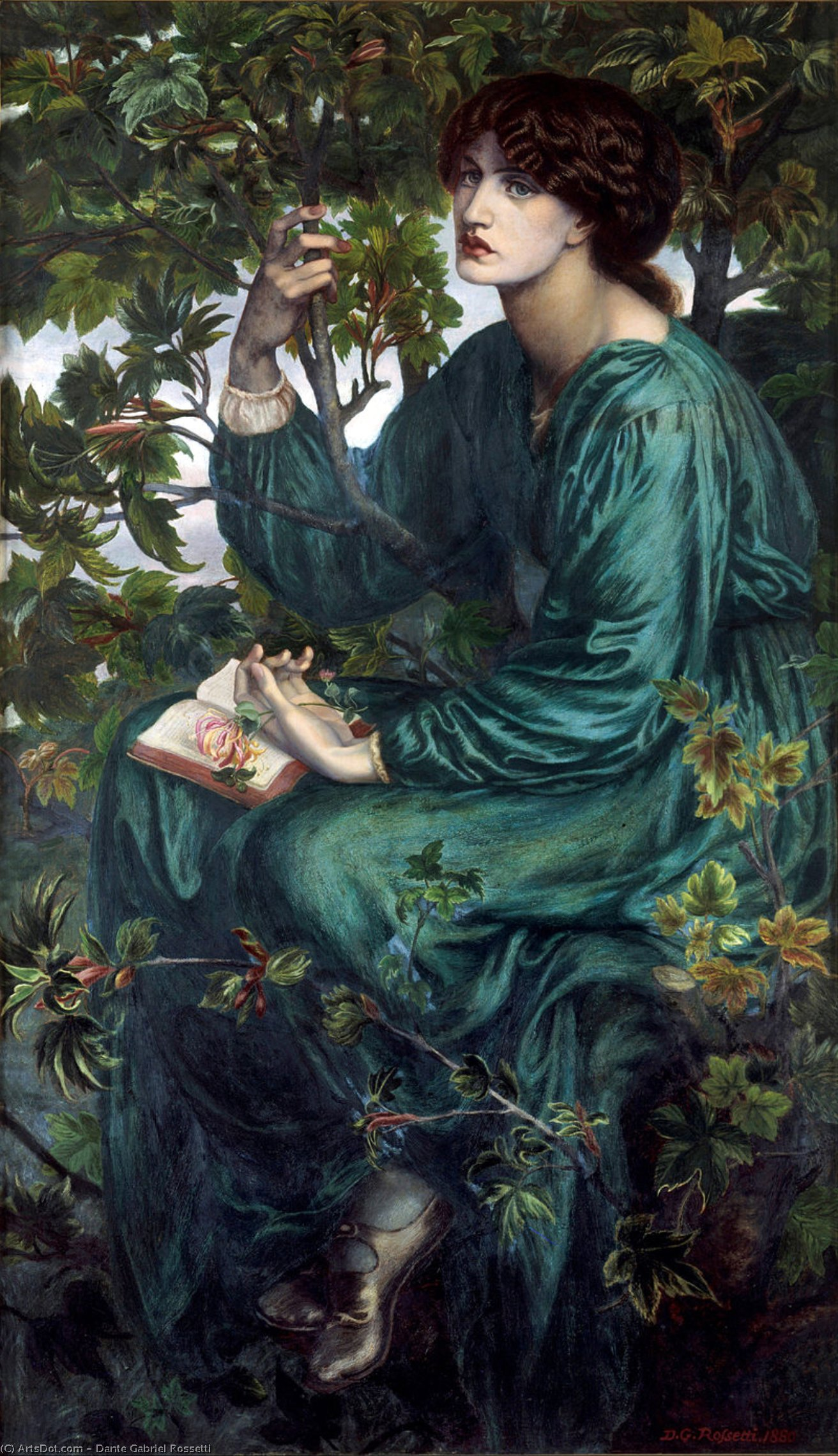 The Daydream by Dante Gabriel Rossetti (1828-1882, United Kingdom)