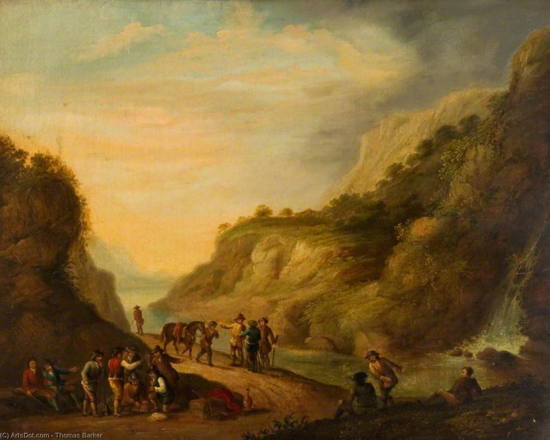The Smugglers' Rendezvous by Thomas Barker (1769-1847, United States)