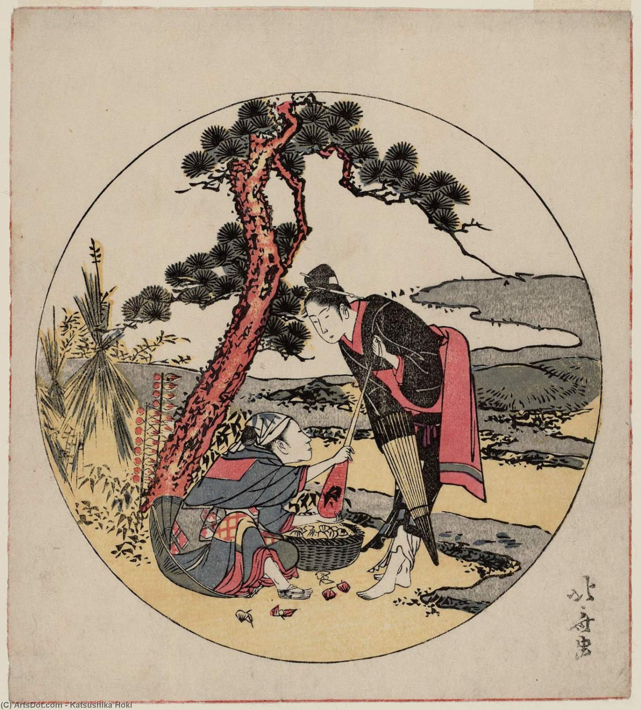 Parody Of Act V Of Chûshingura by Katsushika Hokusai (1760-1849, Japan) | Museum Quality Reproductions | ArtsDot.com