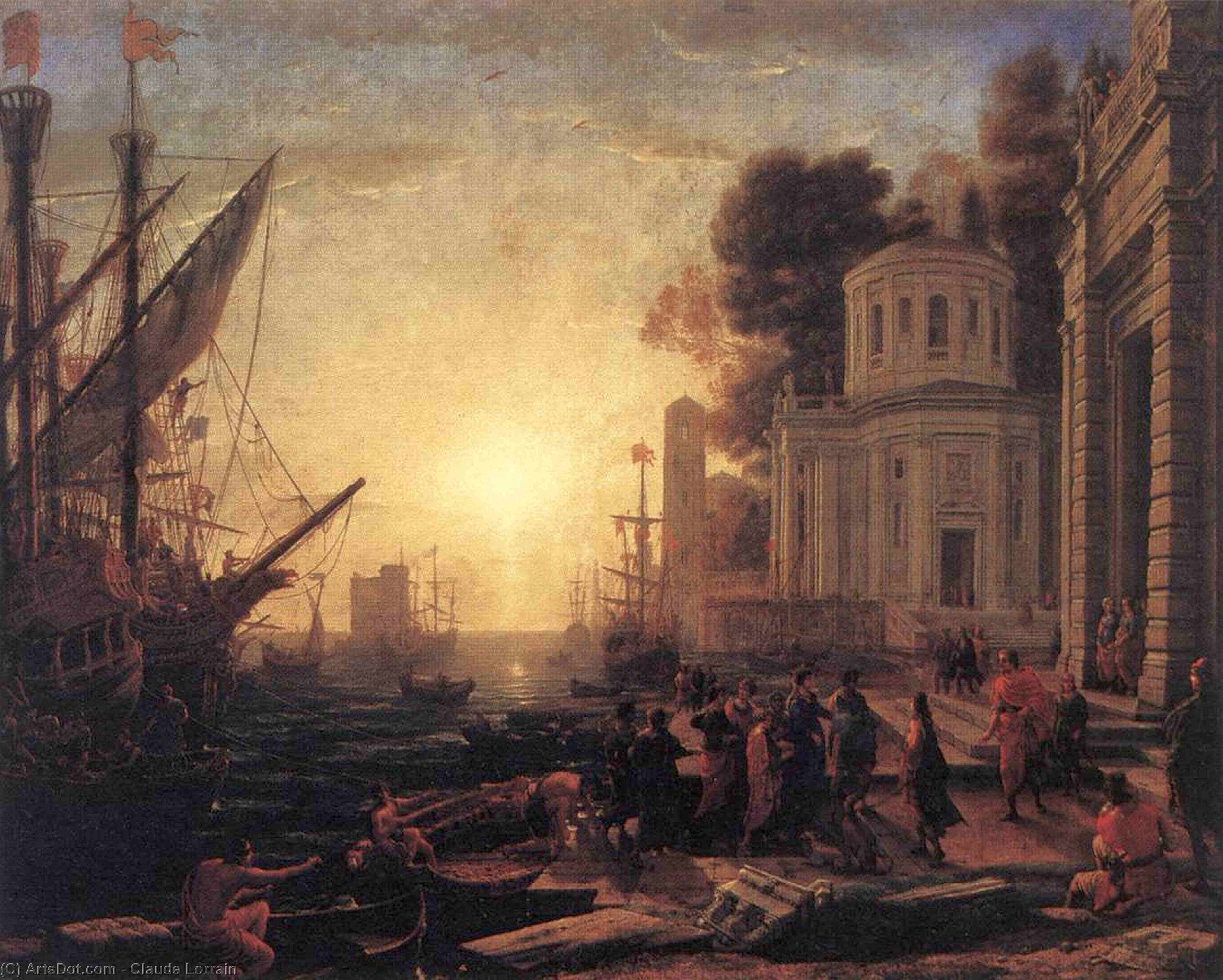 The Disembarkation of Cleopatra at Tarsus, 1642 by Claude Lorrain (Claude Gellée)