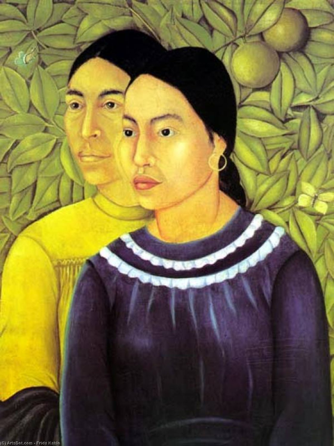 two women by Frida Kahlo (1907-1954, Mexico)