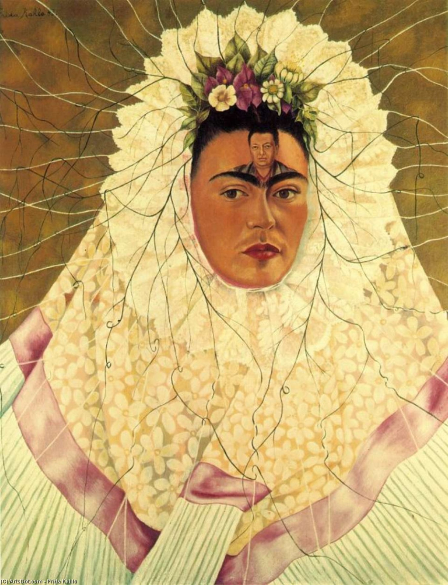 Self-Portrait as a Tehuana (Diego in My Thoughts) by Frida Kahlo (1907-1954, Mexico)