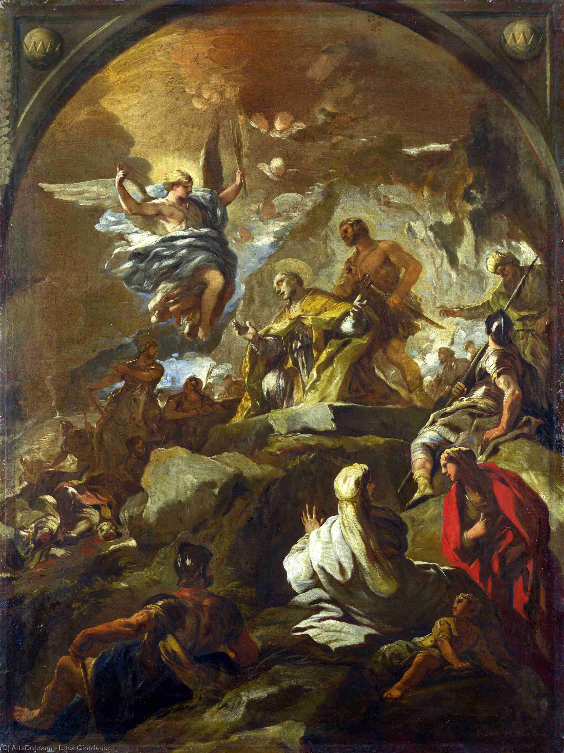 The Martyrdom of Saint Januarius by Luca Giordano (1634-1705, Italy)