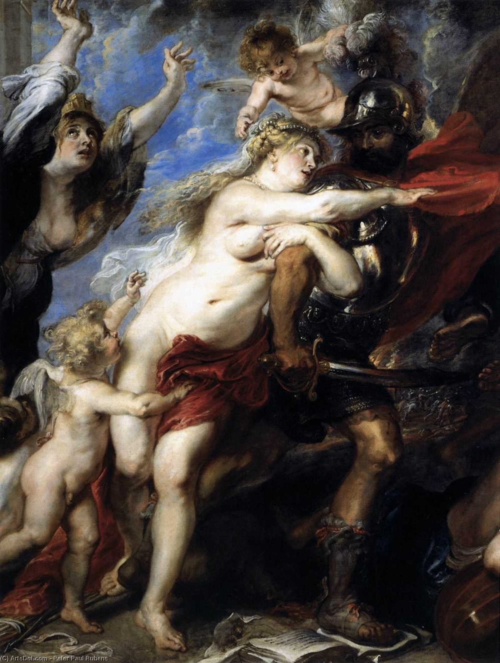 The Consequences of War (detail) by Peter Paul Rubens (1577-1640, Italy) | Paintings Reproductions Peter Paul Rubens | ArtsDot.com