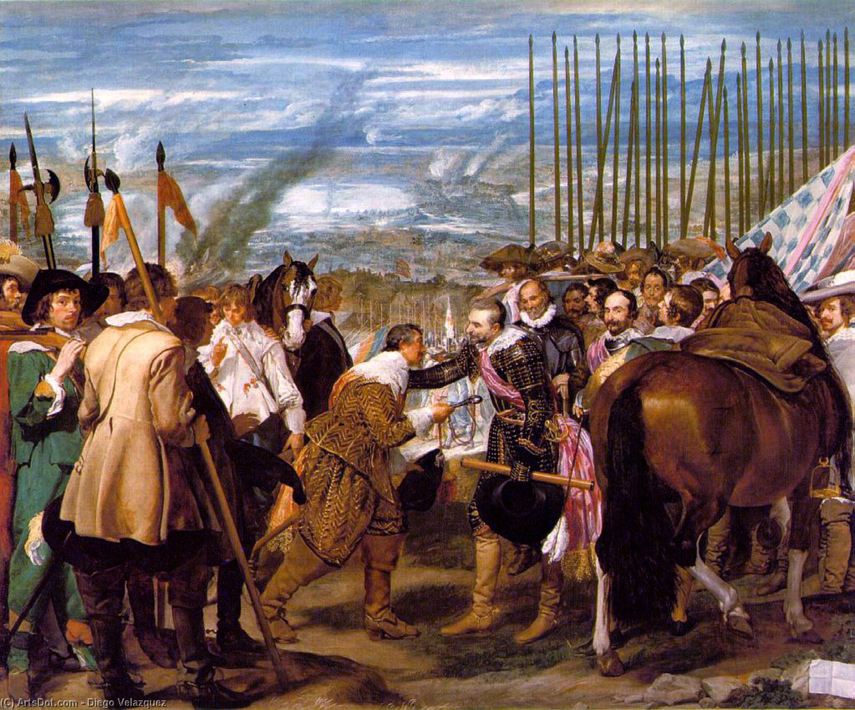 The Surrender of Breda by Diego Velazquez (1599-1660, Spain)