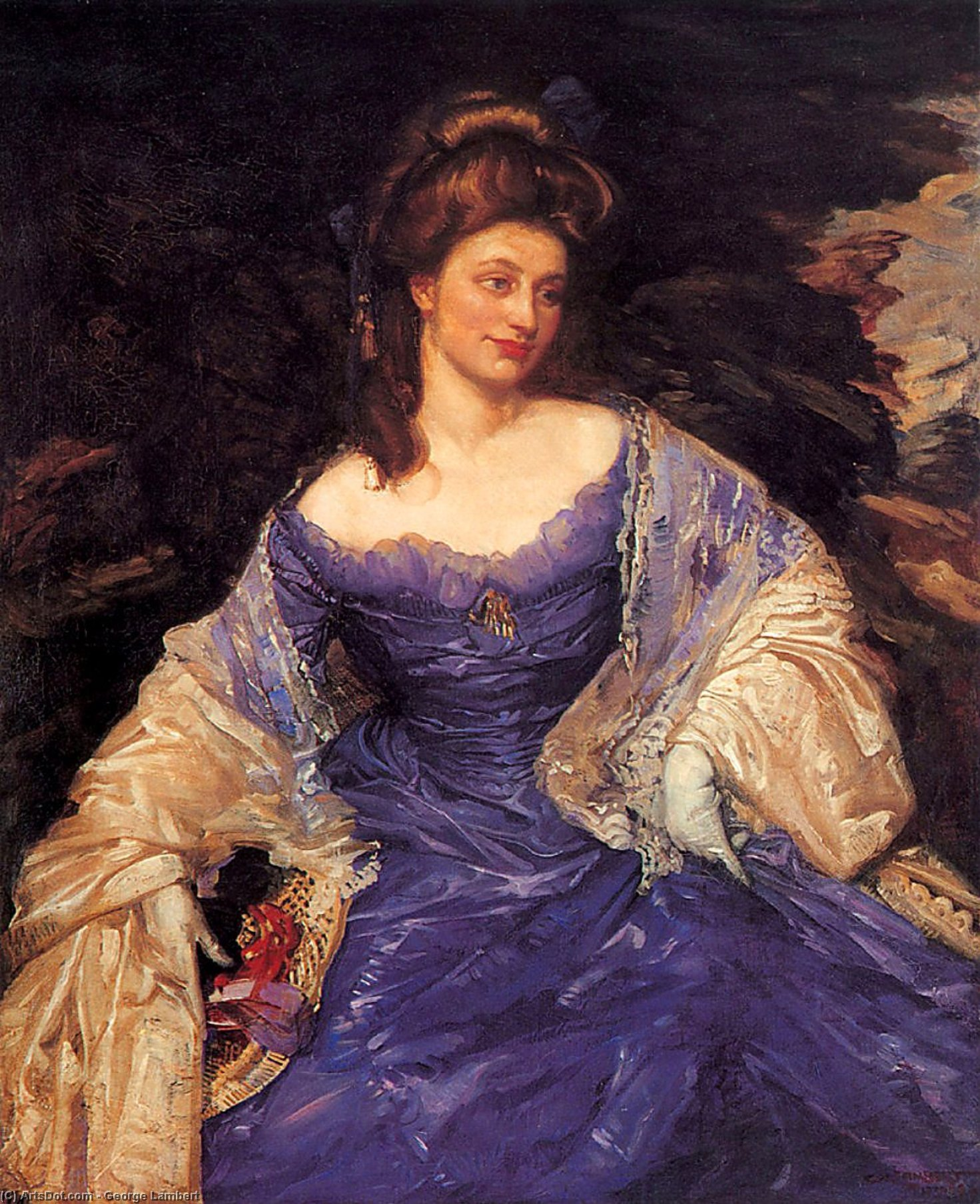 Order Painting Copy : Miss katherine powell by George Lambert (1873-1930, Russia) | ArtsDot.com