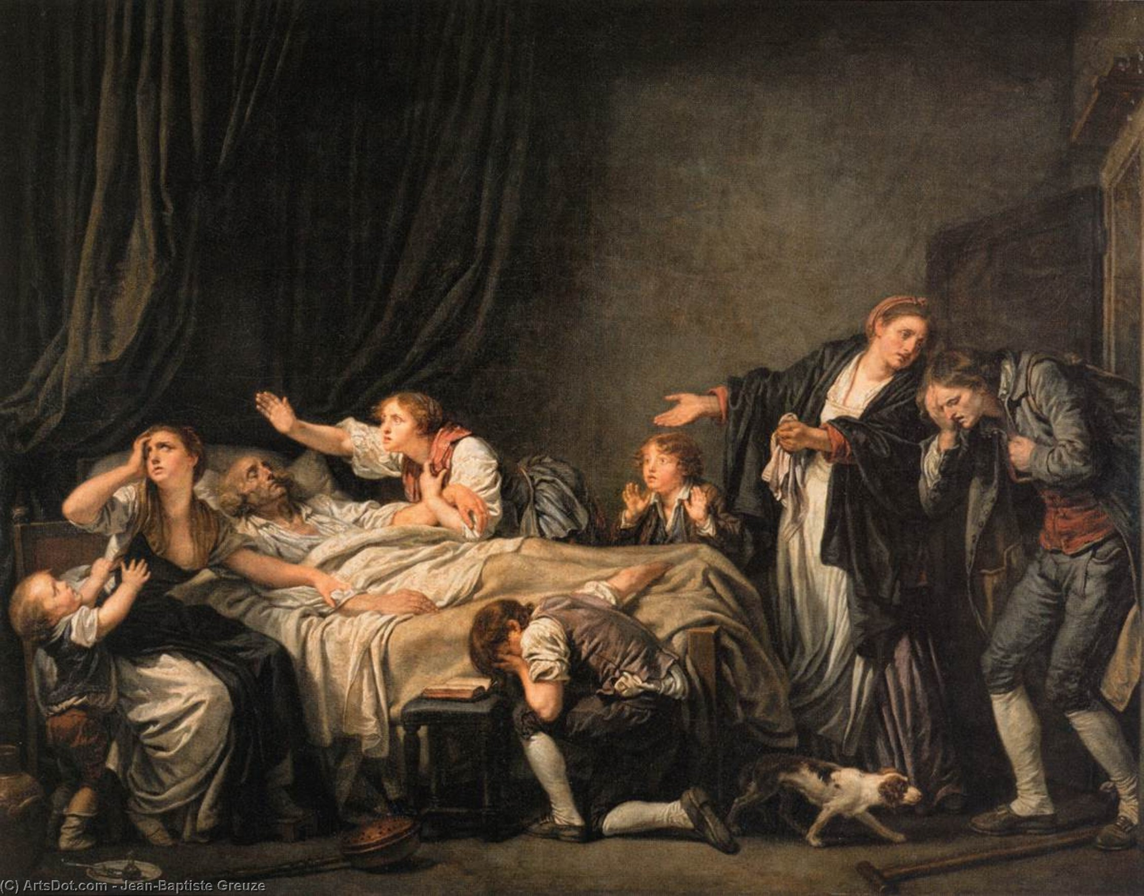 Order Art Reproductions | The Punished Son by Jean-Baptiste Greuze (1725-1805, France) | ArtsDot.com