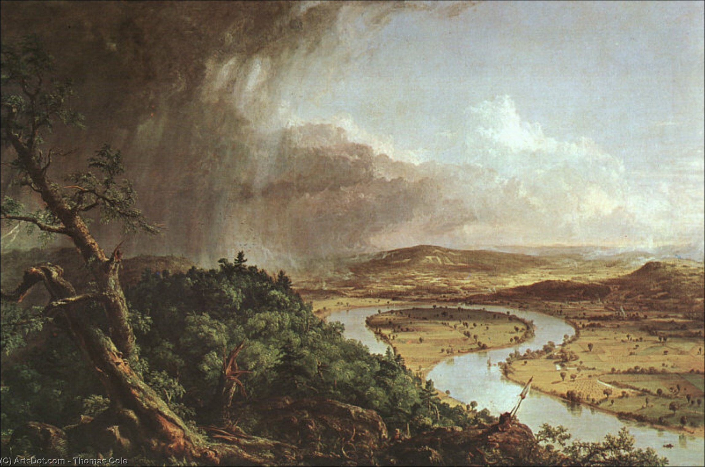The Connecticut River near Northampton by Thomas Cole (1801-1848, United Kingdom)