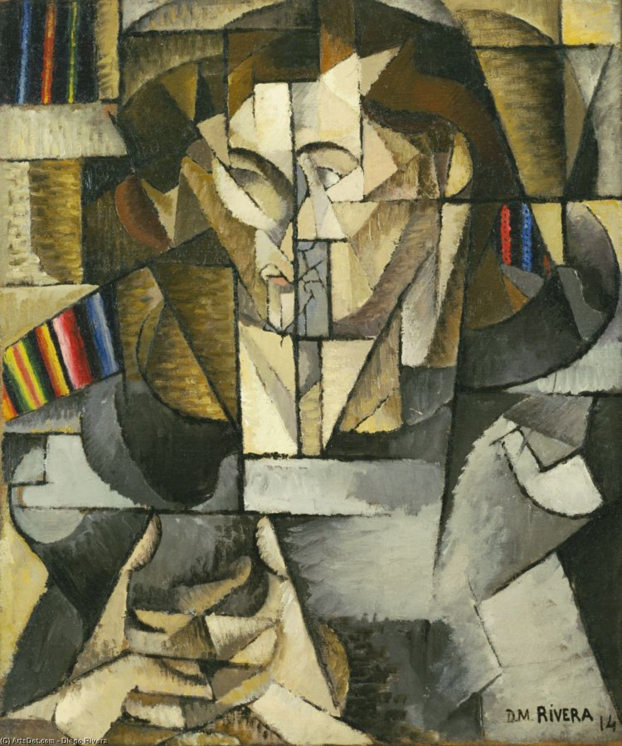 Jacques lipchitz by Diego Rivera (1886-1957, Mexico)
