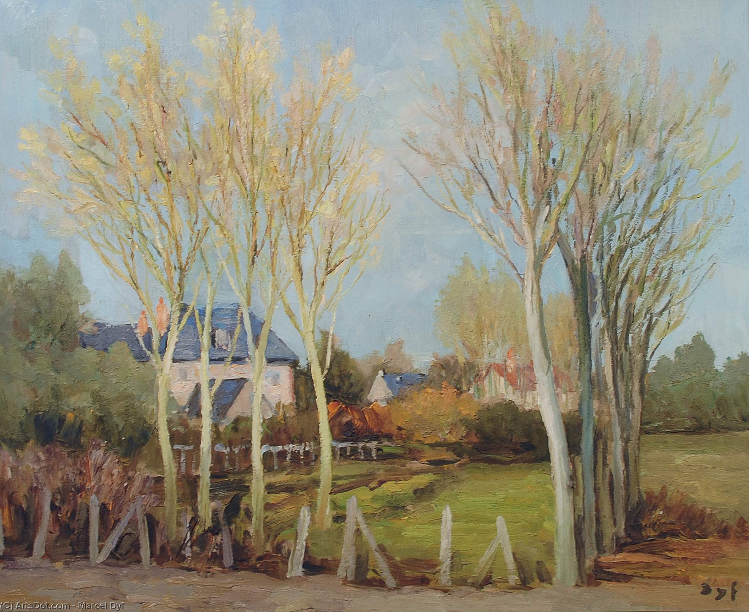 Landscape of Dordogne by Marcel Dyf (1899-1985, France)