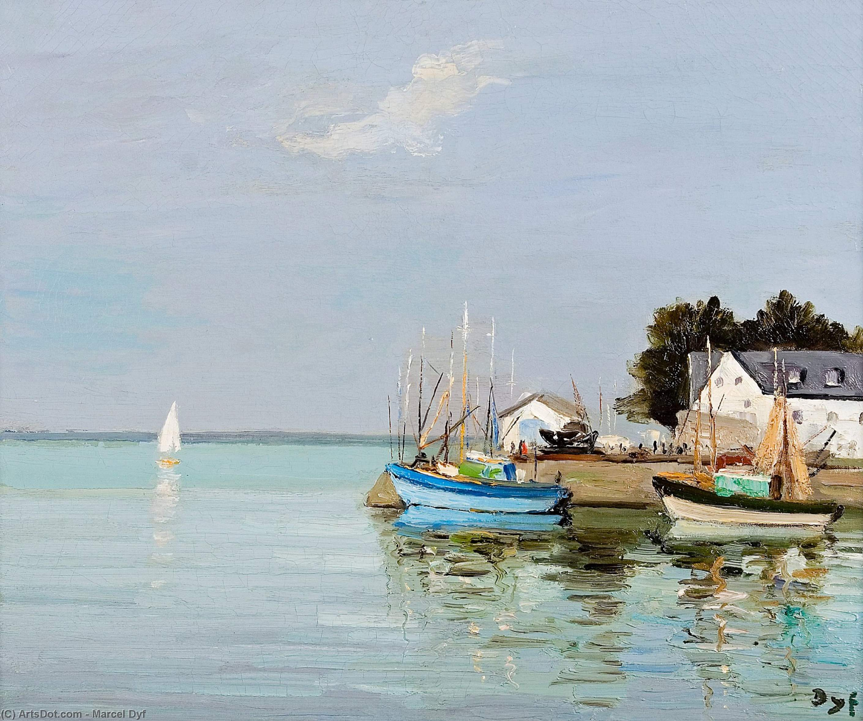 Loctudy, finistere, brittany, (1970) by Marcel Dyf (1899-1985, France)