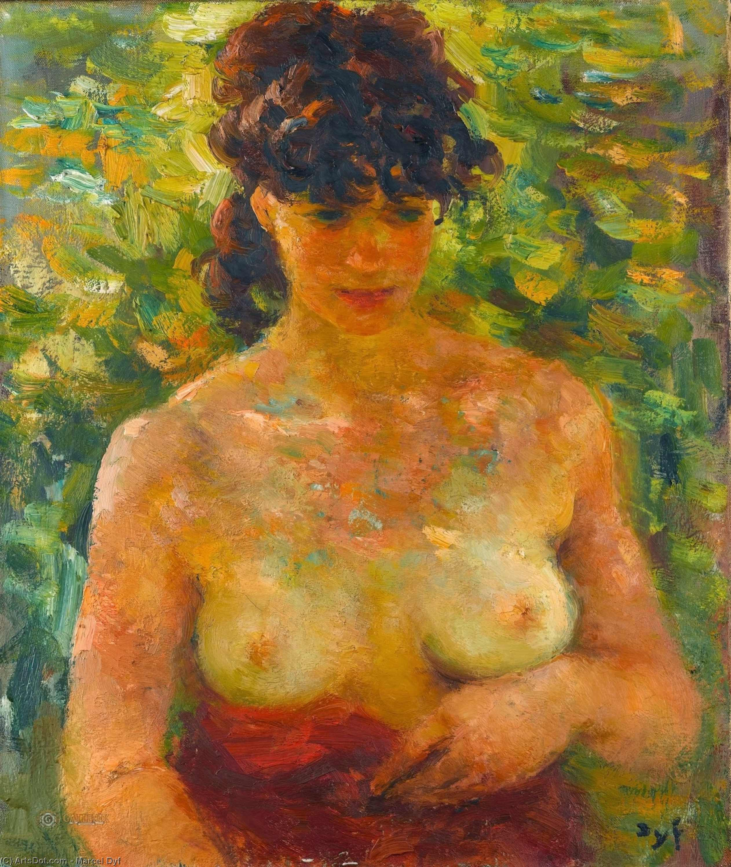 Nude Torso in Sunlight by Marcel Dyf (1899-1985, France)