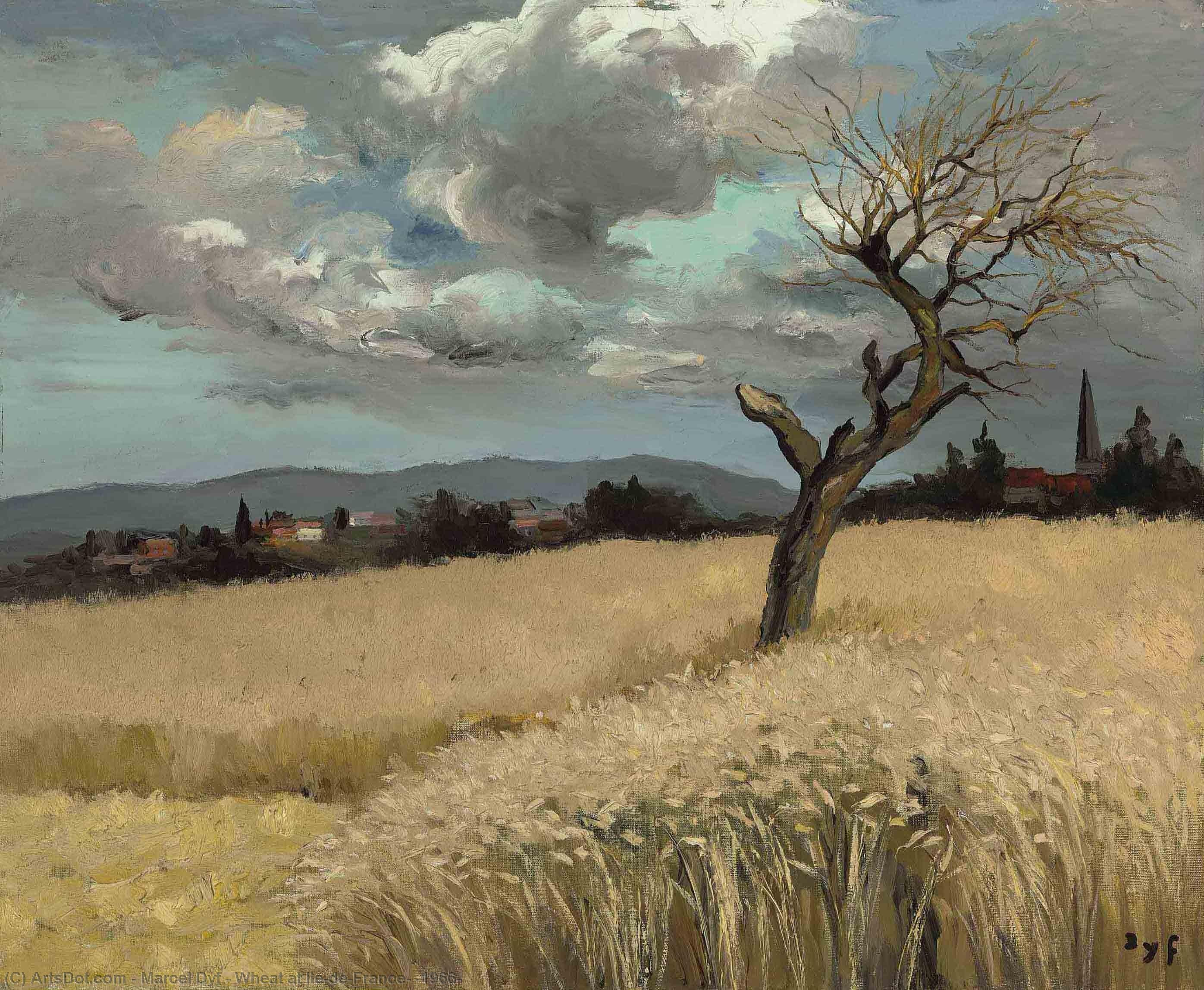 Wheat at Ile-de-France, (1966) by Marcel Dyf (1899-1985, France) | Painting Copy | ArtsDot.com