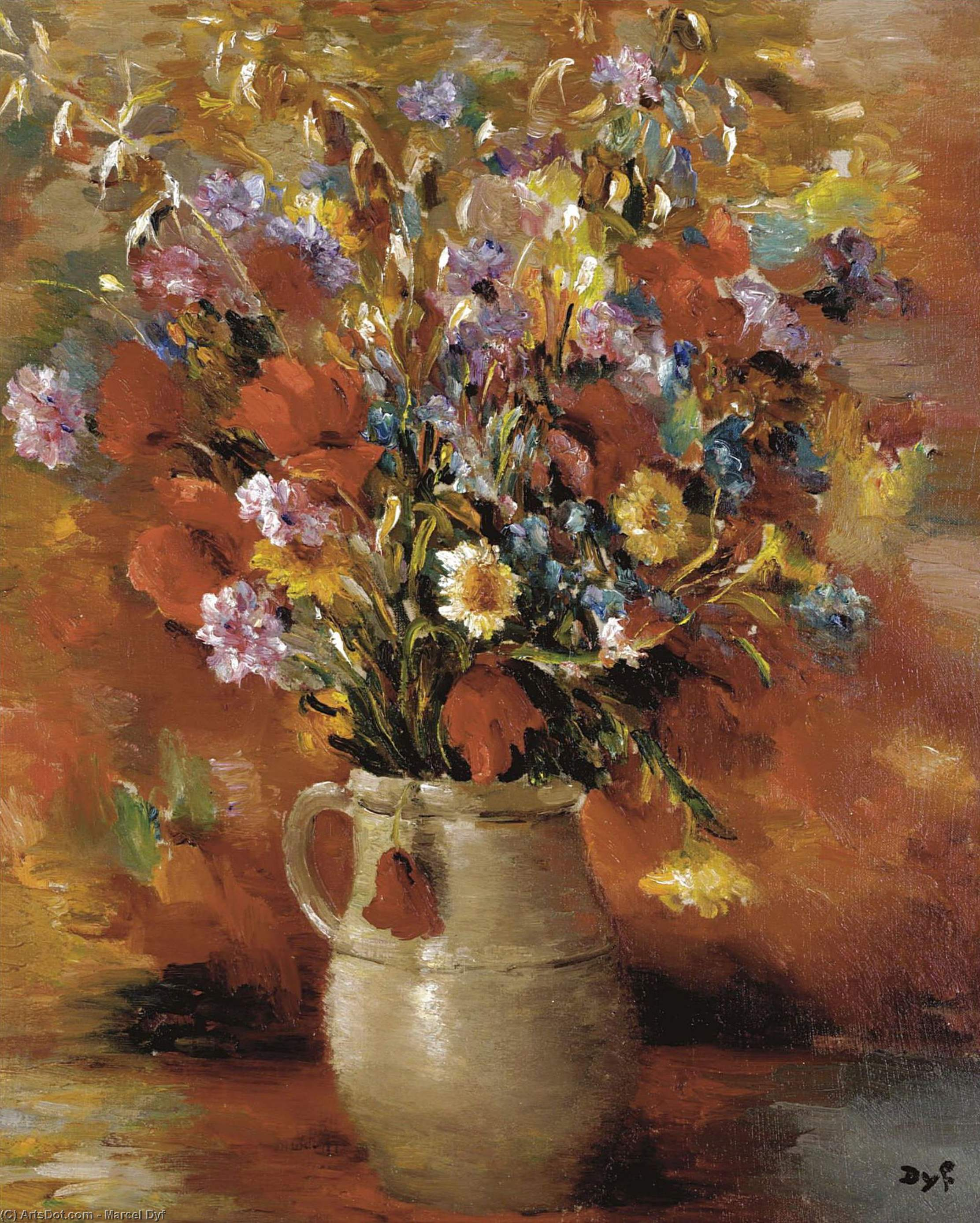 Vase of Flowers, (1935) by Marcel Dyf (1899-1985, France)