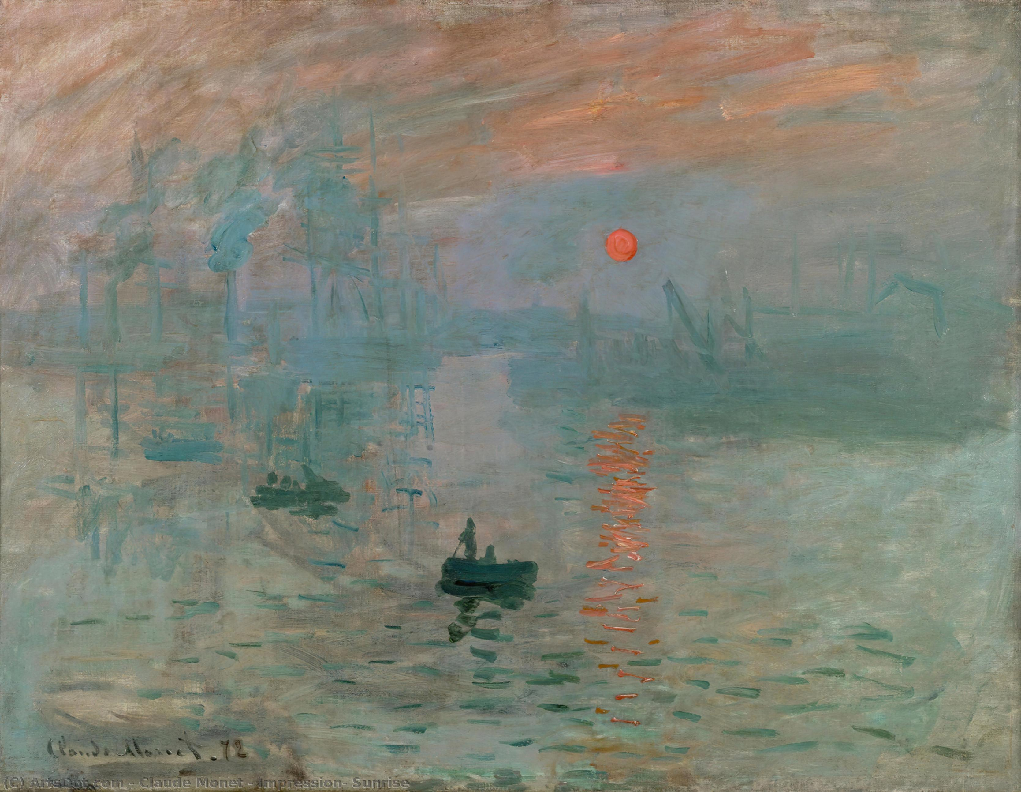 Impression, Sunrise, 1873 by Claude Monet (1840-1926, France) | Reproductions Claude Monet | ArtsDot.com