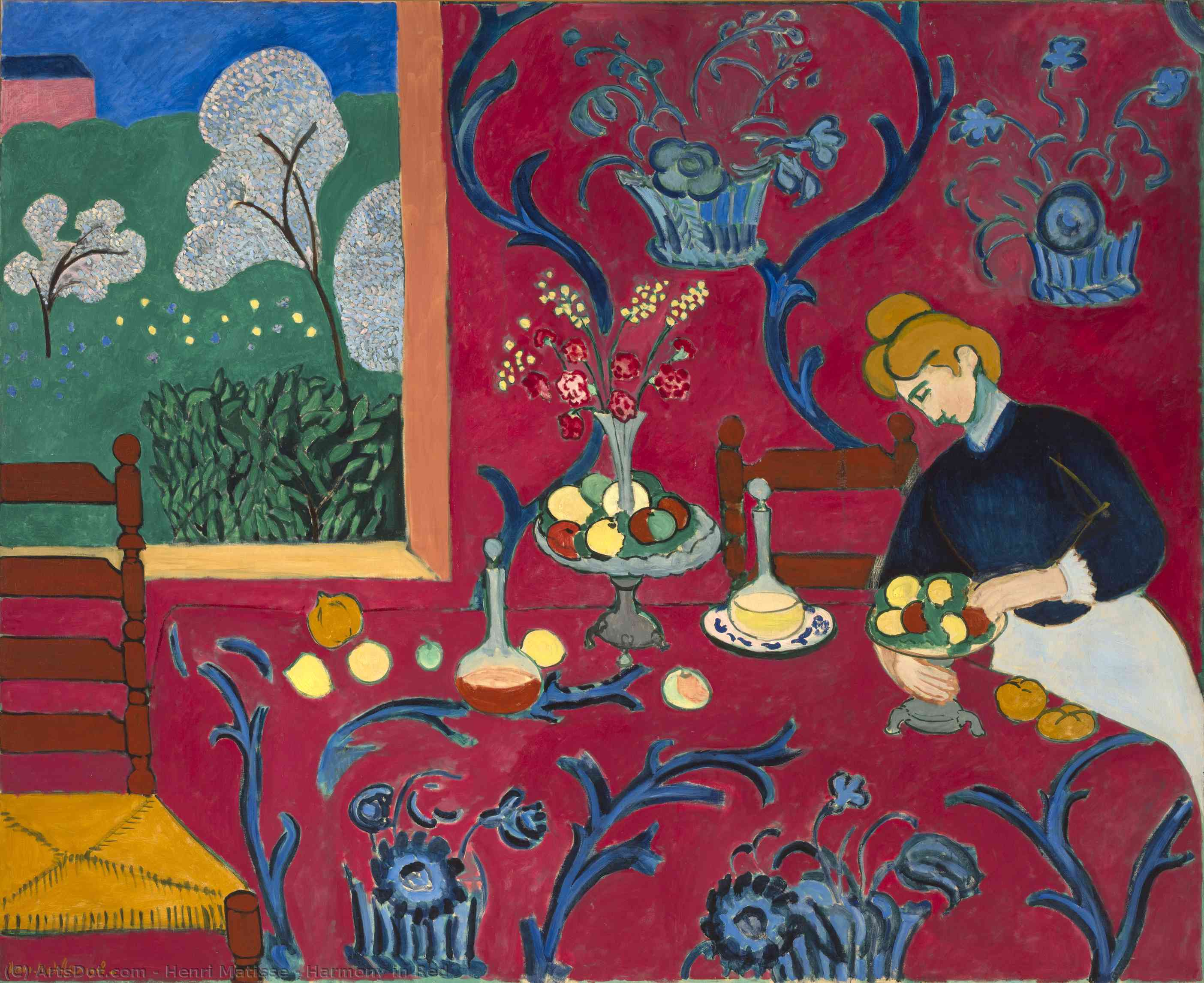 Harmony in Red, 1908 by Henri Matisse (1869-1954, France) |  | ArtsDot.com