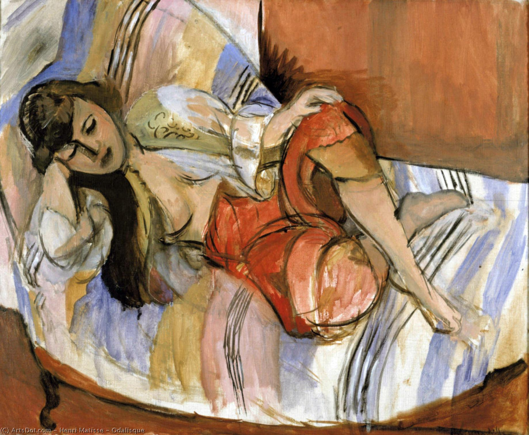 Odalisque by Henri Matisse (1869-1954, France) | Museum Art Reproductions | ArtsDot.com