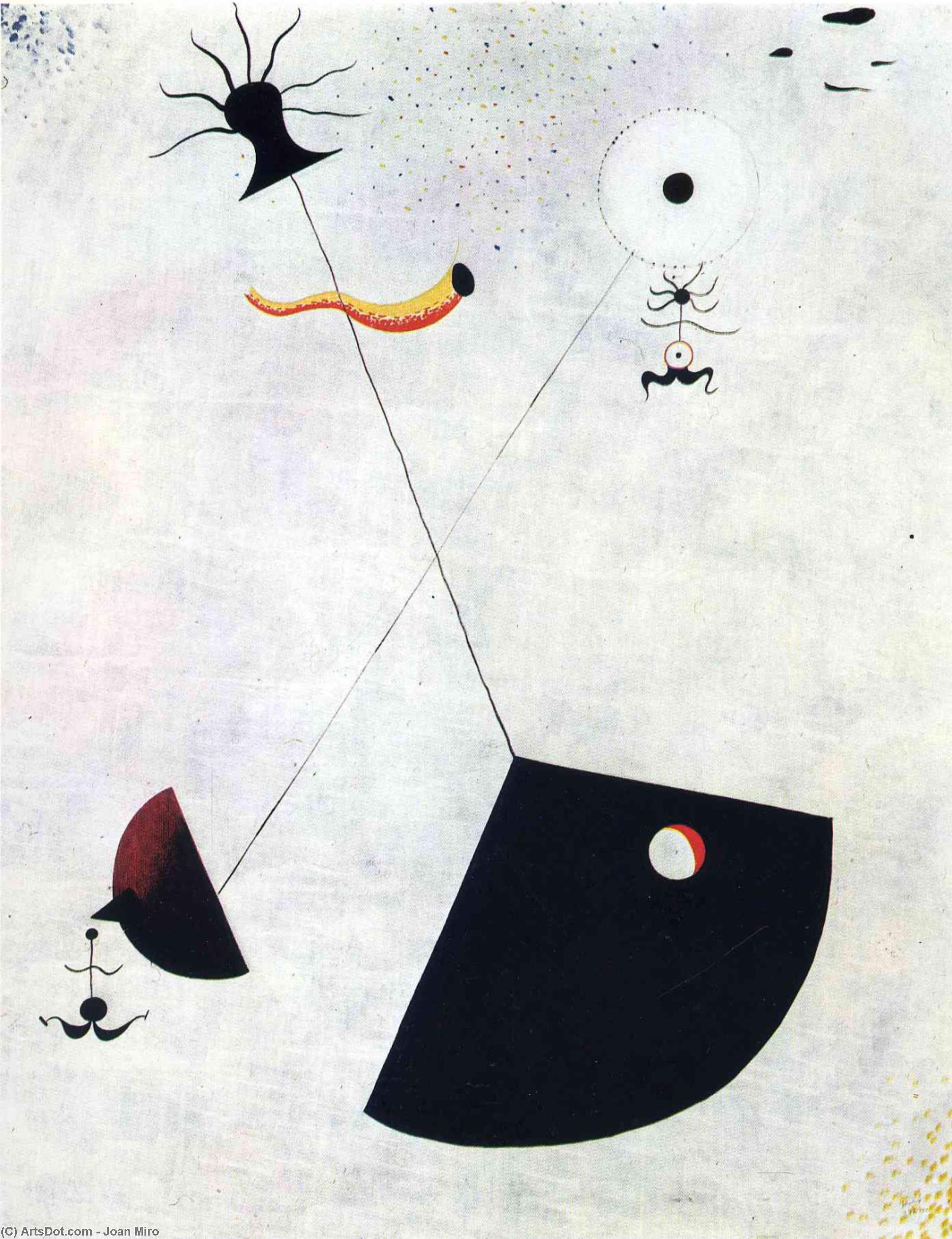 Maternity, Oil On Canvas by Joan Miro (1893-1983, Spain)