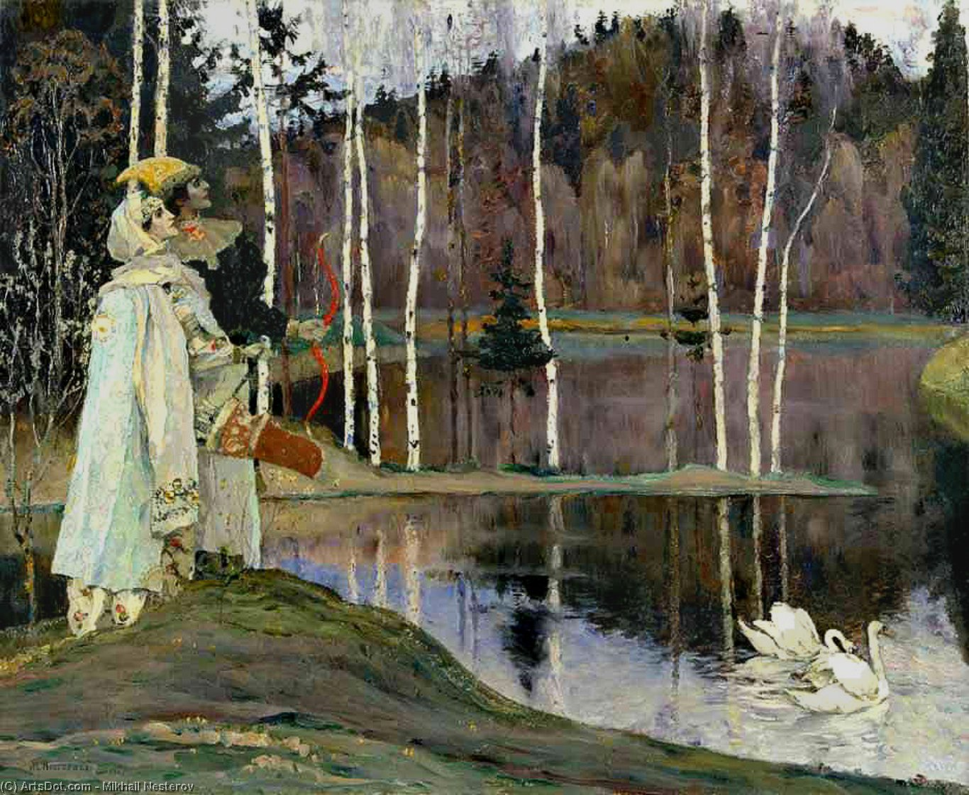 Harmony Concord, Oil On Canvas by Mikhail Nesterov (1862-1942, Russia)