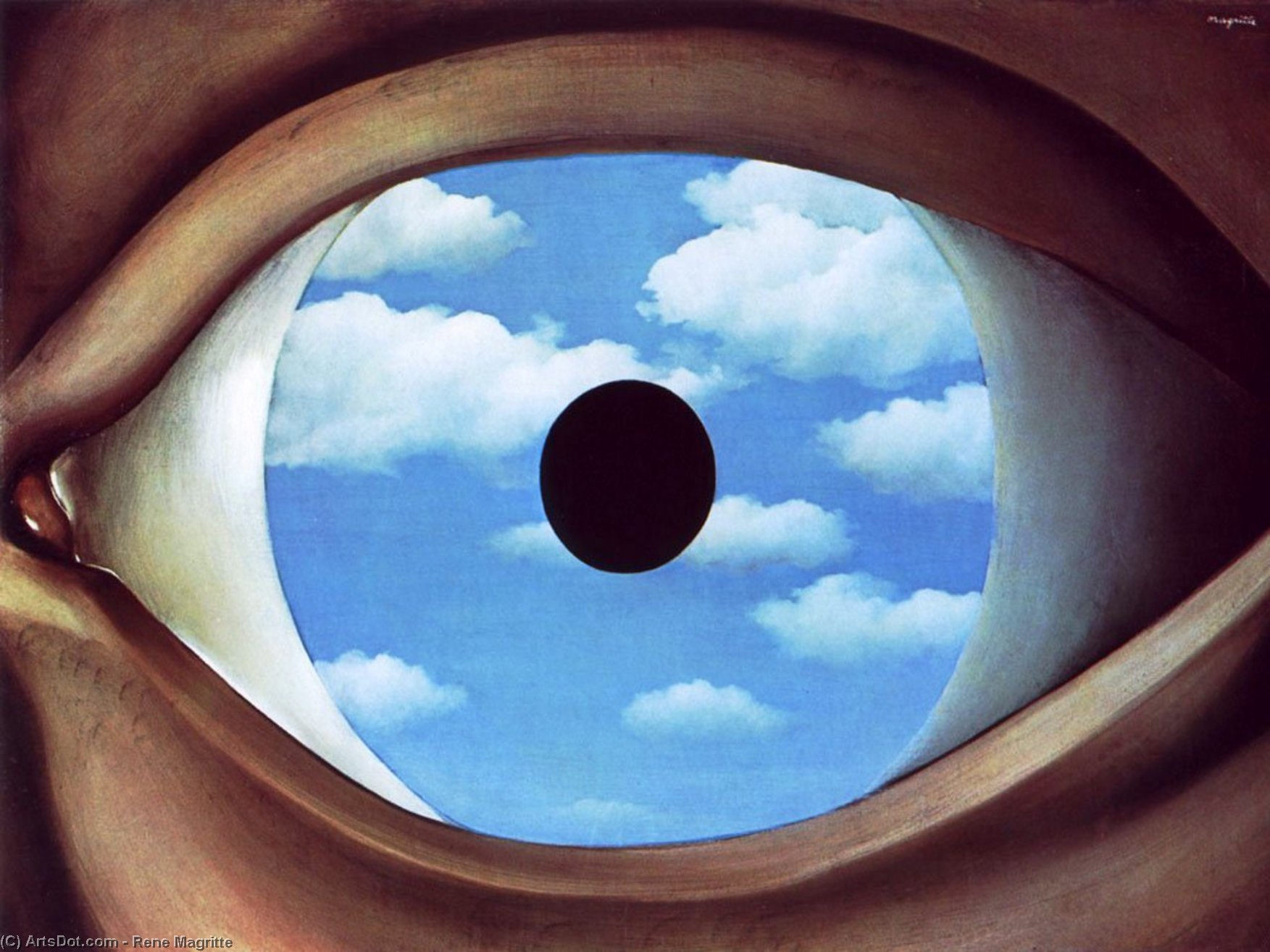 False Mirror by Rene Magritte (1898-1967, Belgium) | Oil Painting | ArtsDot.com