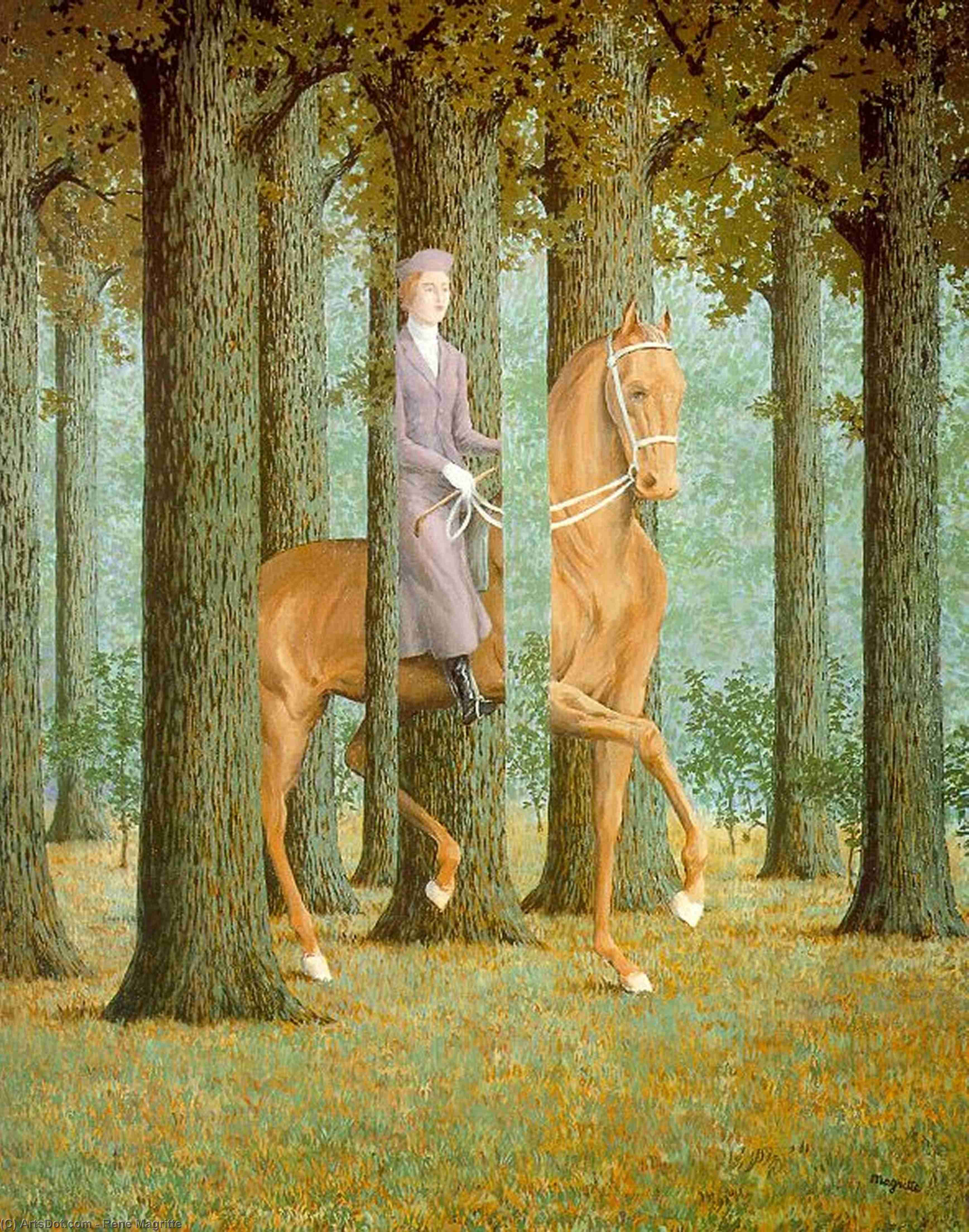 The Blank Check by Rene Magritte (1898-1967, Belgium) |  | ArtsDot.com