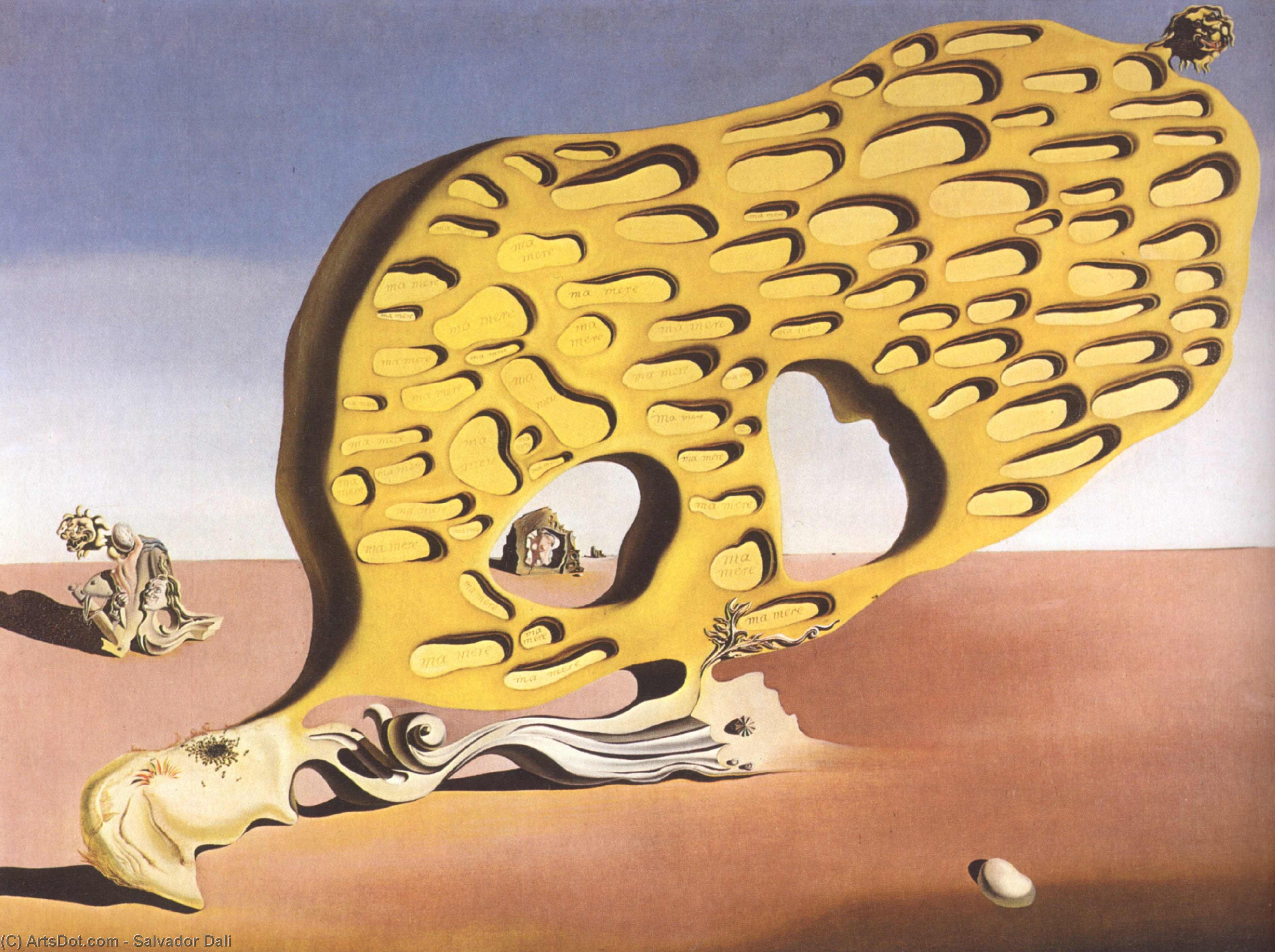 The Enigma of Desire, My Mother, 1929, 1929 by Salvador Dali (1938-1989, Spain) |  | ArtsDot.com