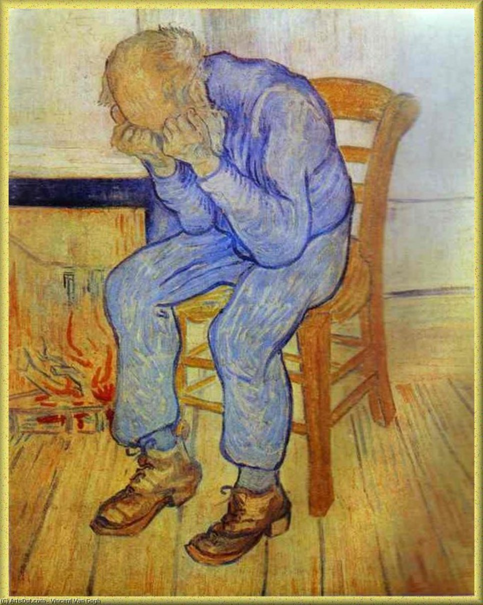 Old Man in Sorrow, 1890 by Vincent Van Gogh (1853-1890, Netherlands) | Paintings Reproductions Vincent Van Gogh | ArtsDot.com