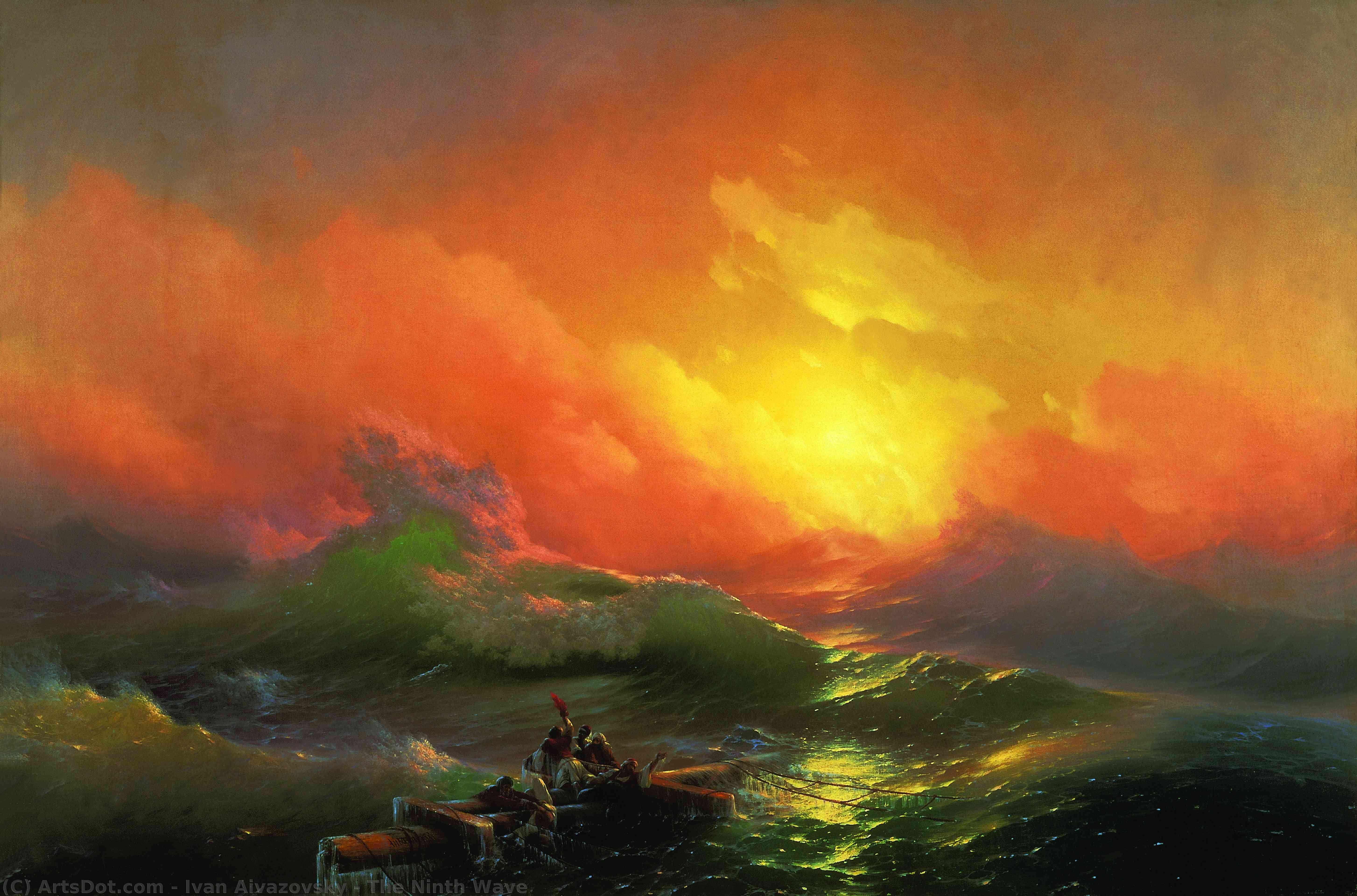 The Ninth Wave, 1850 by Ivan Aivazovsky (1817-1900, Russia) | Museum Quality Copies Ivan Aivazovsky | ArtsDot.com