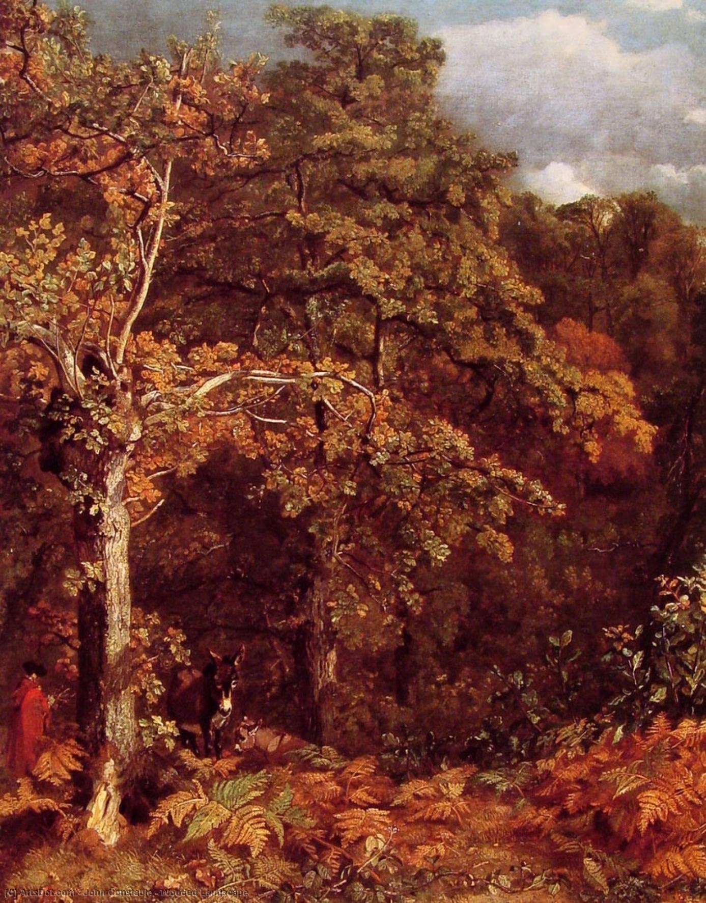 Wooded Landscape by John Constable (1776-1837, United Kingdom) | Museum Art Reproductions | ArtsDot.com
