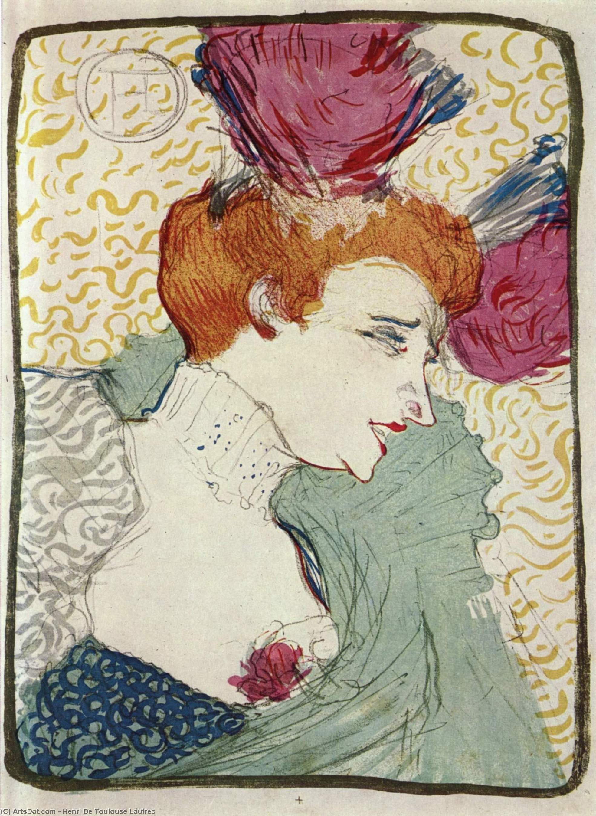 Marcelle Lender, 1895 by Henri De Toulouse Lautrec (1864-1901, France)