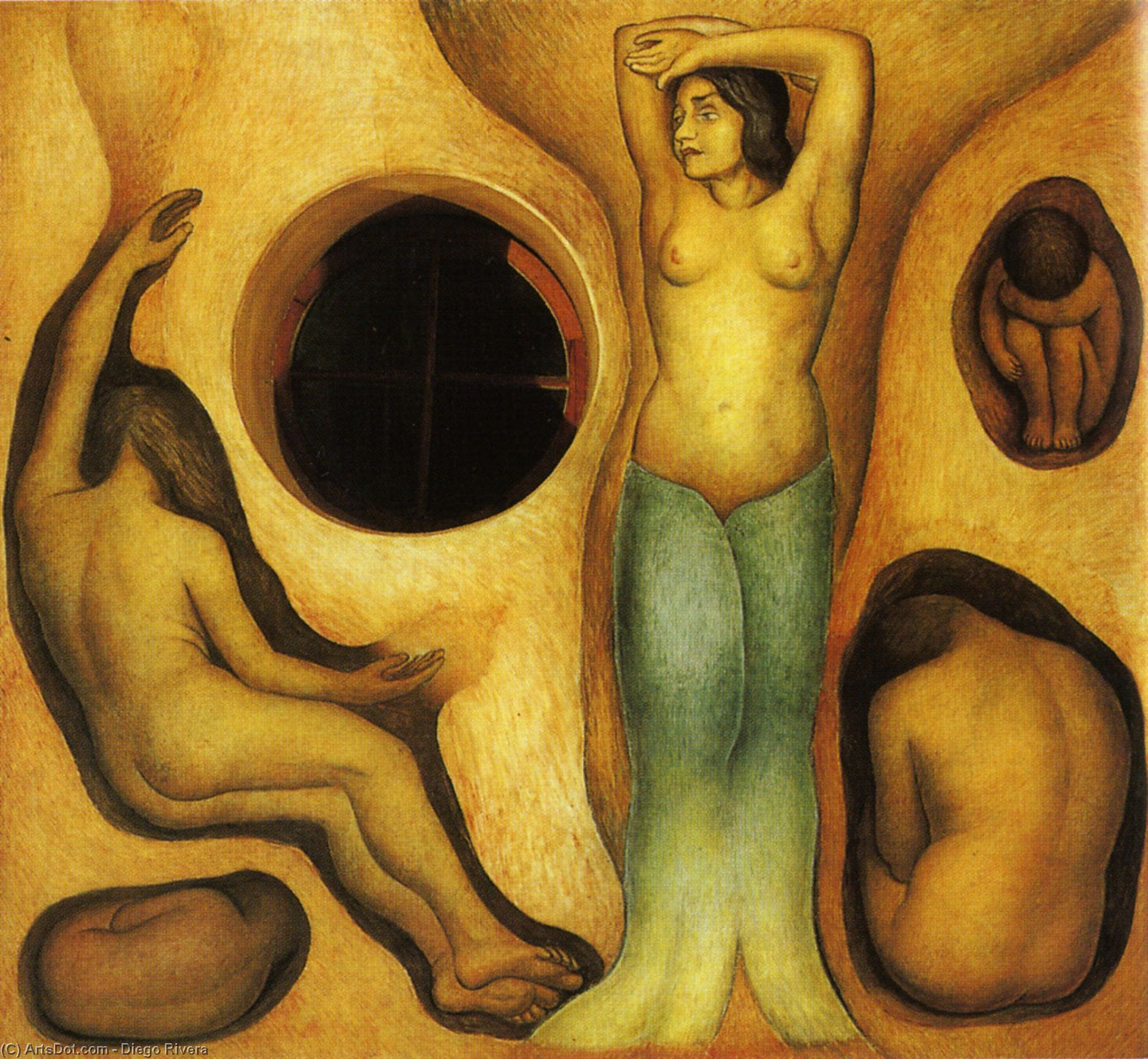 Germination, Oil by Diego Rivera (1886-1957, Mexico)