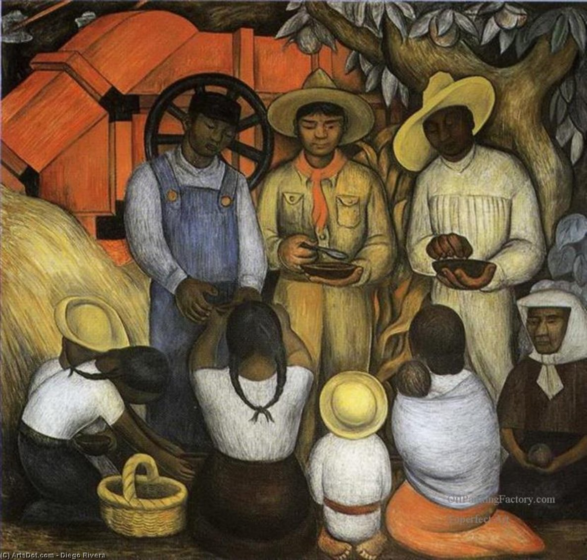 Triumph of the Revolution, Frescoes by Diego Rivera (1886-1957, Mexico)