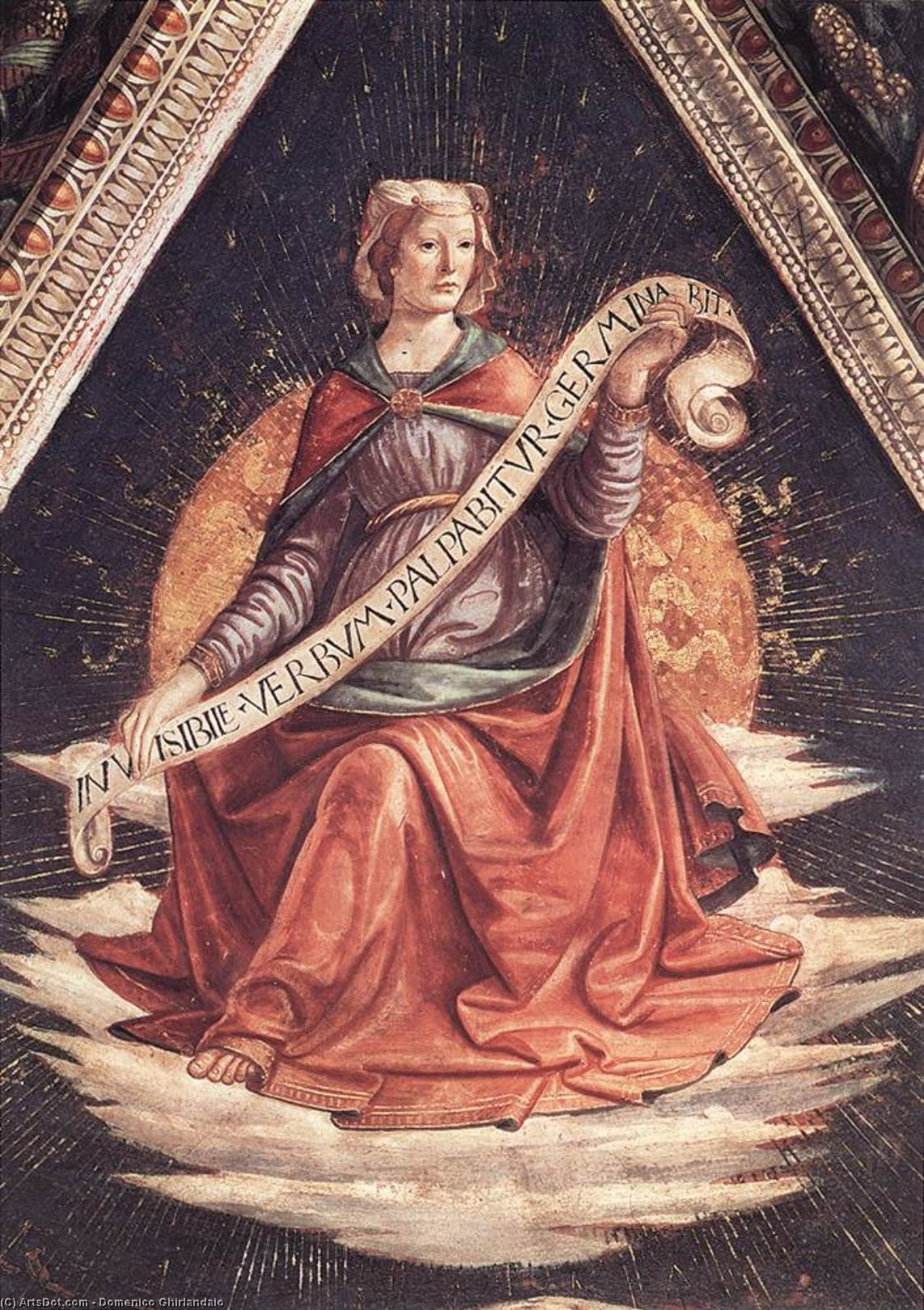 Sibyl, Frescoes by Domenico Ghirlandaio (1449-1494, Italy)