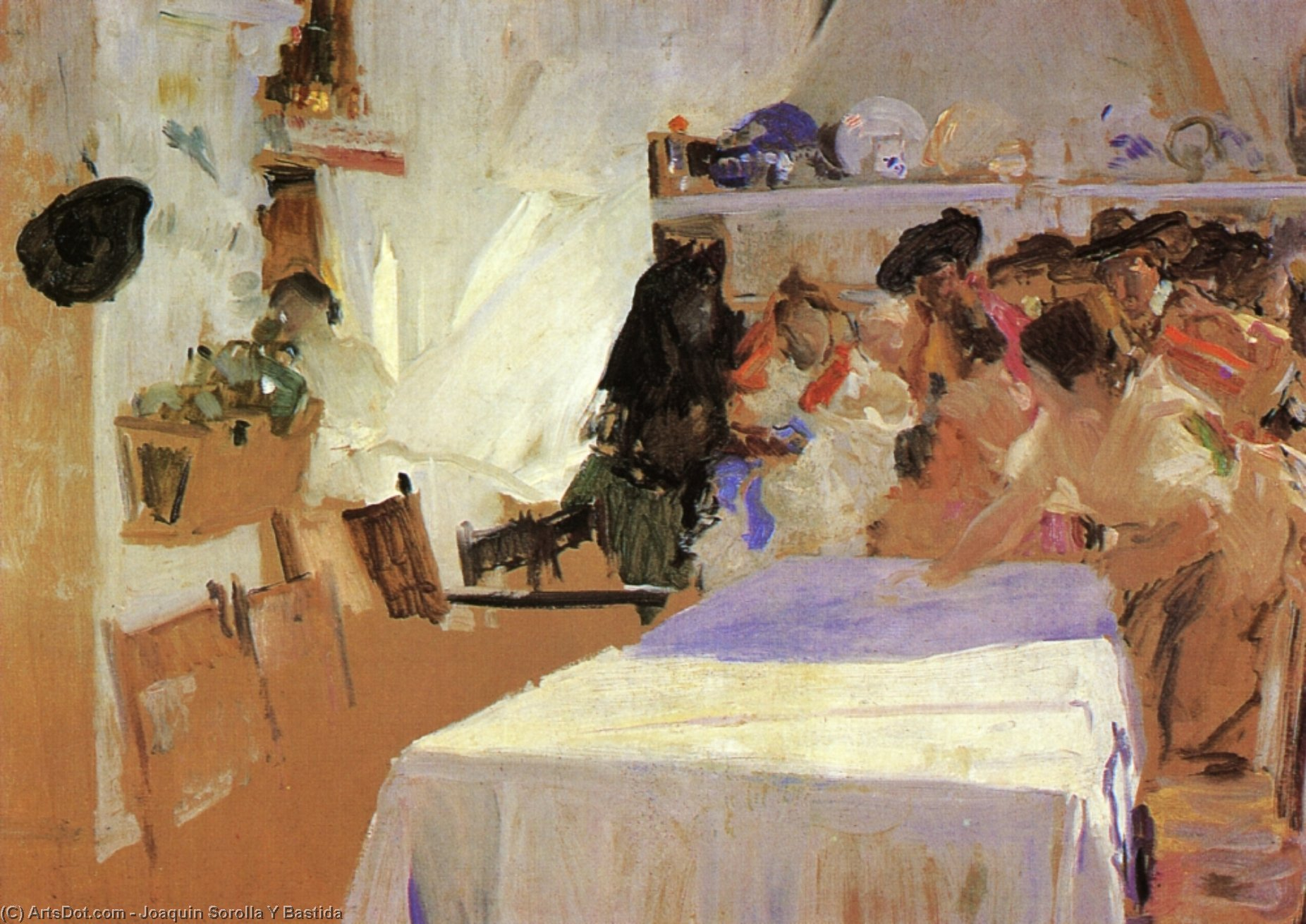 The Christening, Painting by Joaquin Sorolla Y Bastida (1863-1923, Spain)