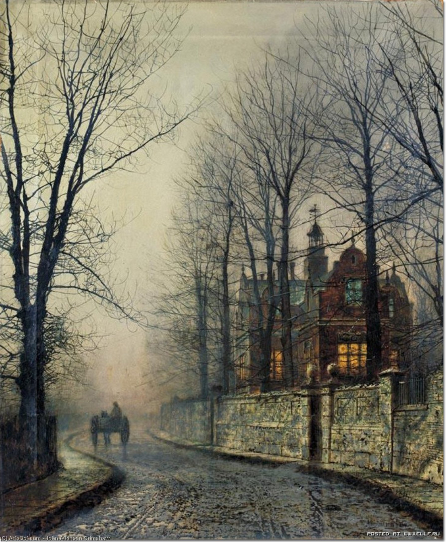 November Moonlight by John Atkinson Grimshaw (1836-1893, United Kingdom) | Museum Art Reproductions | ArtsDot.com