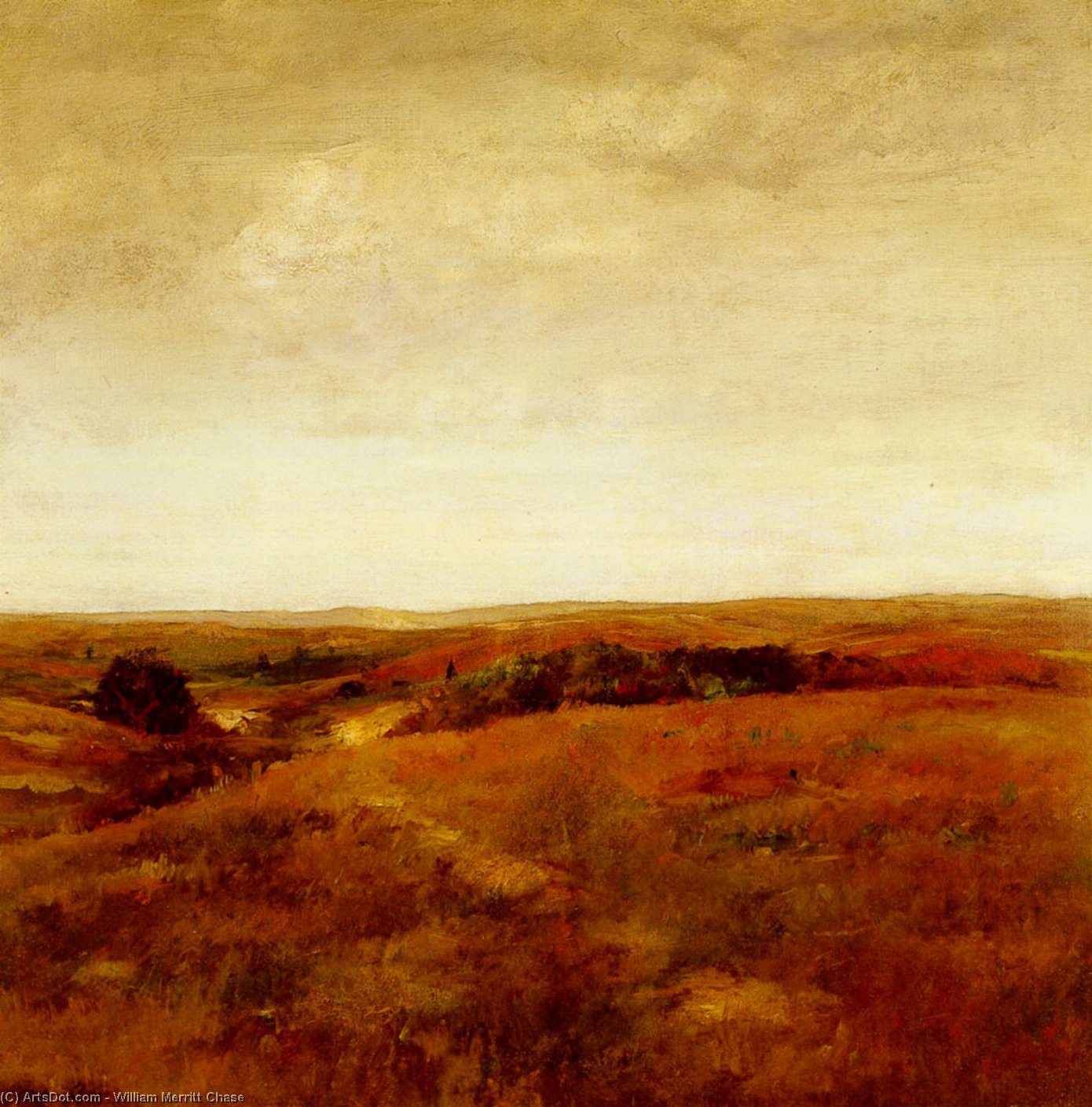 October, Oil On Canvas by William Merritt Chase (1849-1916, United States)