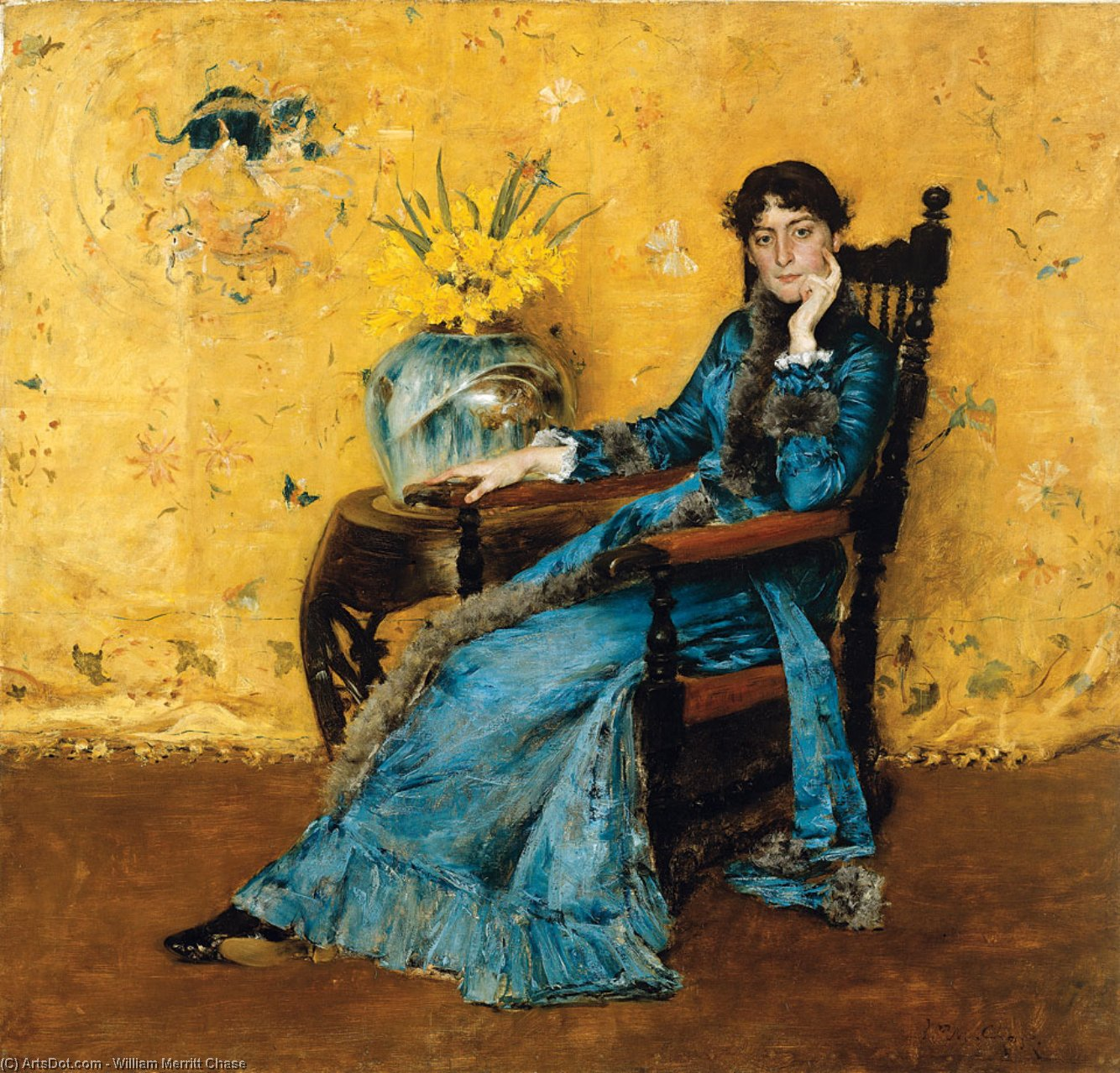Portrait of Miss Dora Wheeler, Oil On Canvas by William Merritt Chase (1849-1916, United States)