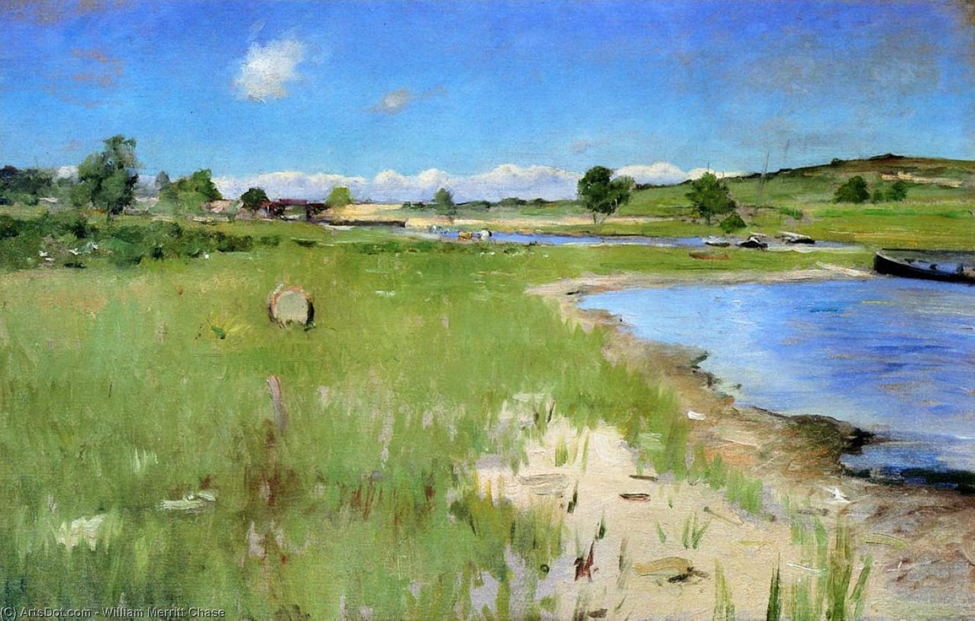 Shinnecock Hills from Canoe Place, Long Island, Oil On Canvas by William Merritt Chase (1849-1916, United States)
