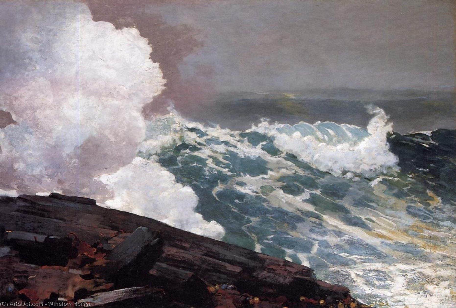 Northeaster, 1895 by Winslow Homer (1836-1910, United States) | Museum Art Reproductions | ArtsDot.com
