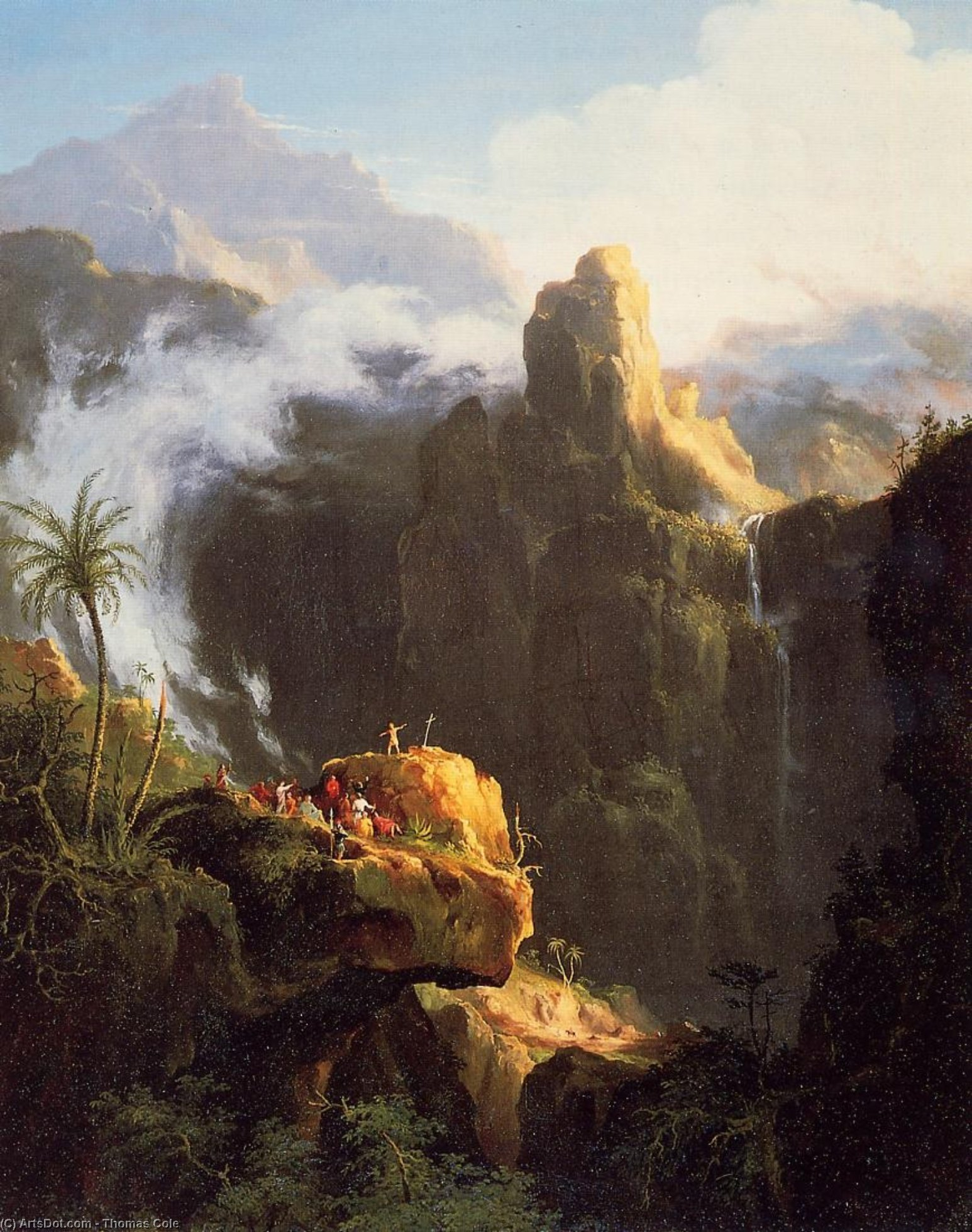 Landscape Composition, Saint John in the Wilderness, Oil by Thomas Cole (1801-1848, United Kingdom)