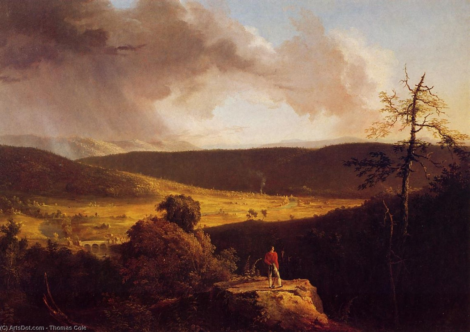View of L'Esperance on the Schoharie River, Oil by Thomas Cole (1801-1848, United Kingdom)