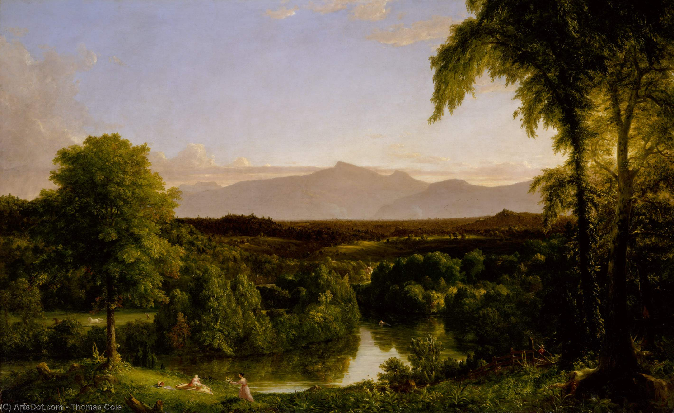 View on the Catskill - Early Autumn, Oil by Thomas Cole (1801-1848, United Kingdom)