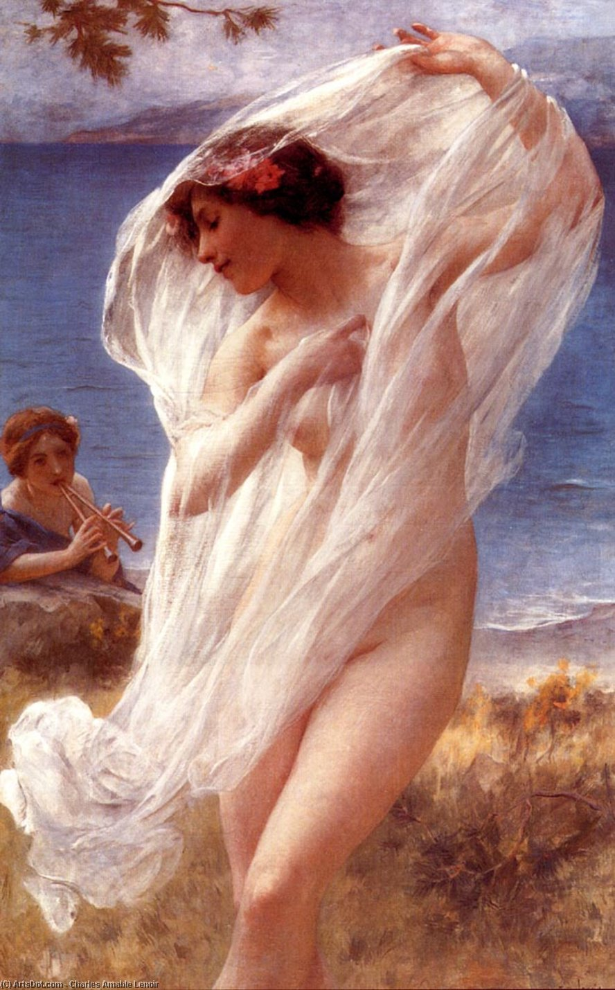 A Dance By The Sea by Charles Amable Lenoir (1860-1926, France) | Museum Art Reproductions | ArtsDot.com