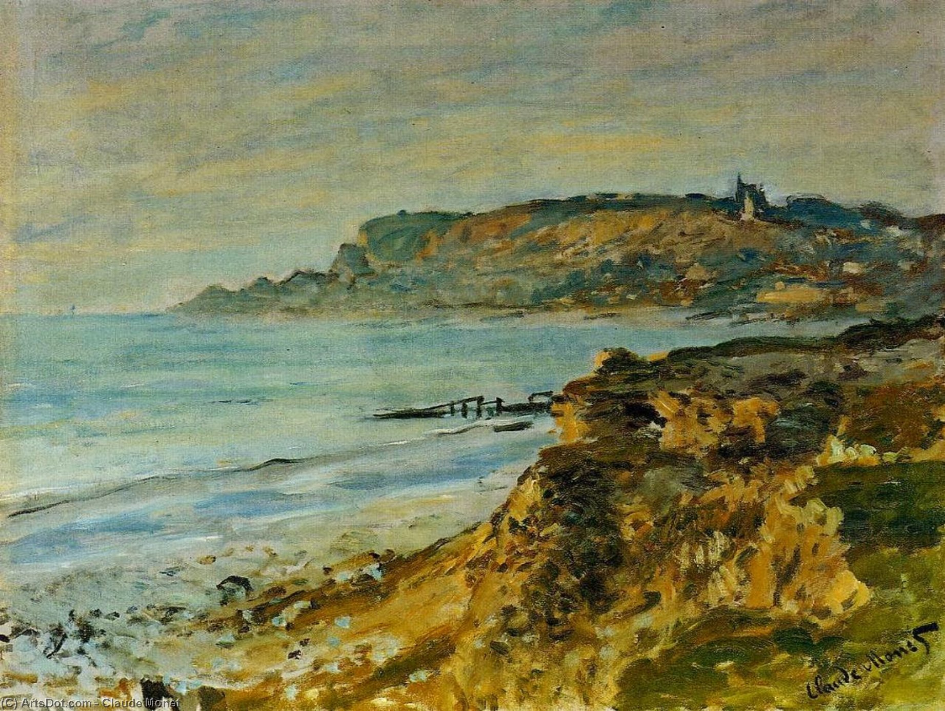 an analysis of the painting terrace at sainte adresse by claude oscar monet