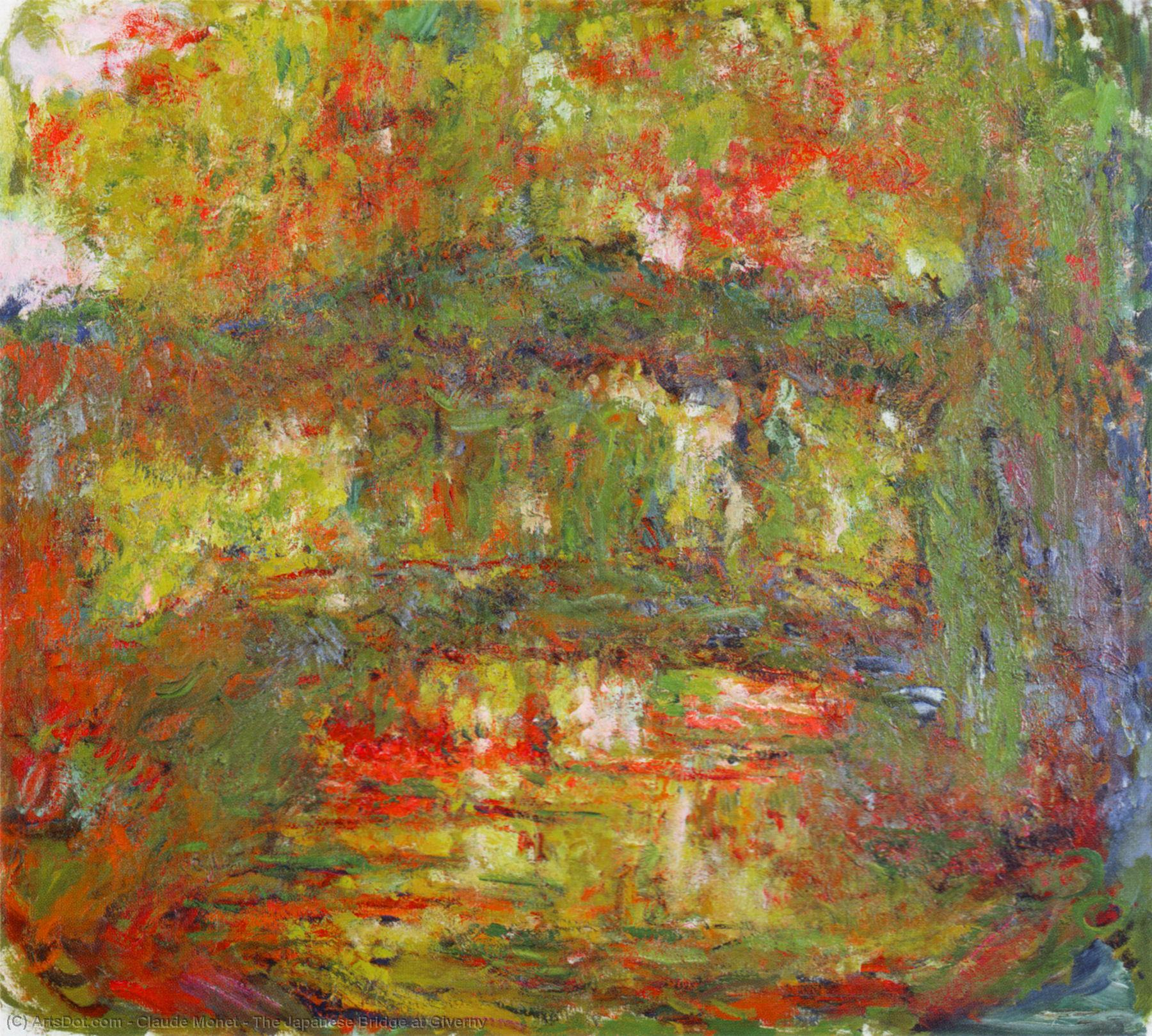 The Japanese Bridge at Giverny, 1926 by Claude Monet (1840-1926, France) | Museum Art Reproductions Claude Monet | ArtsDot.com