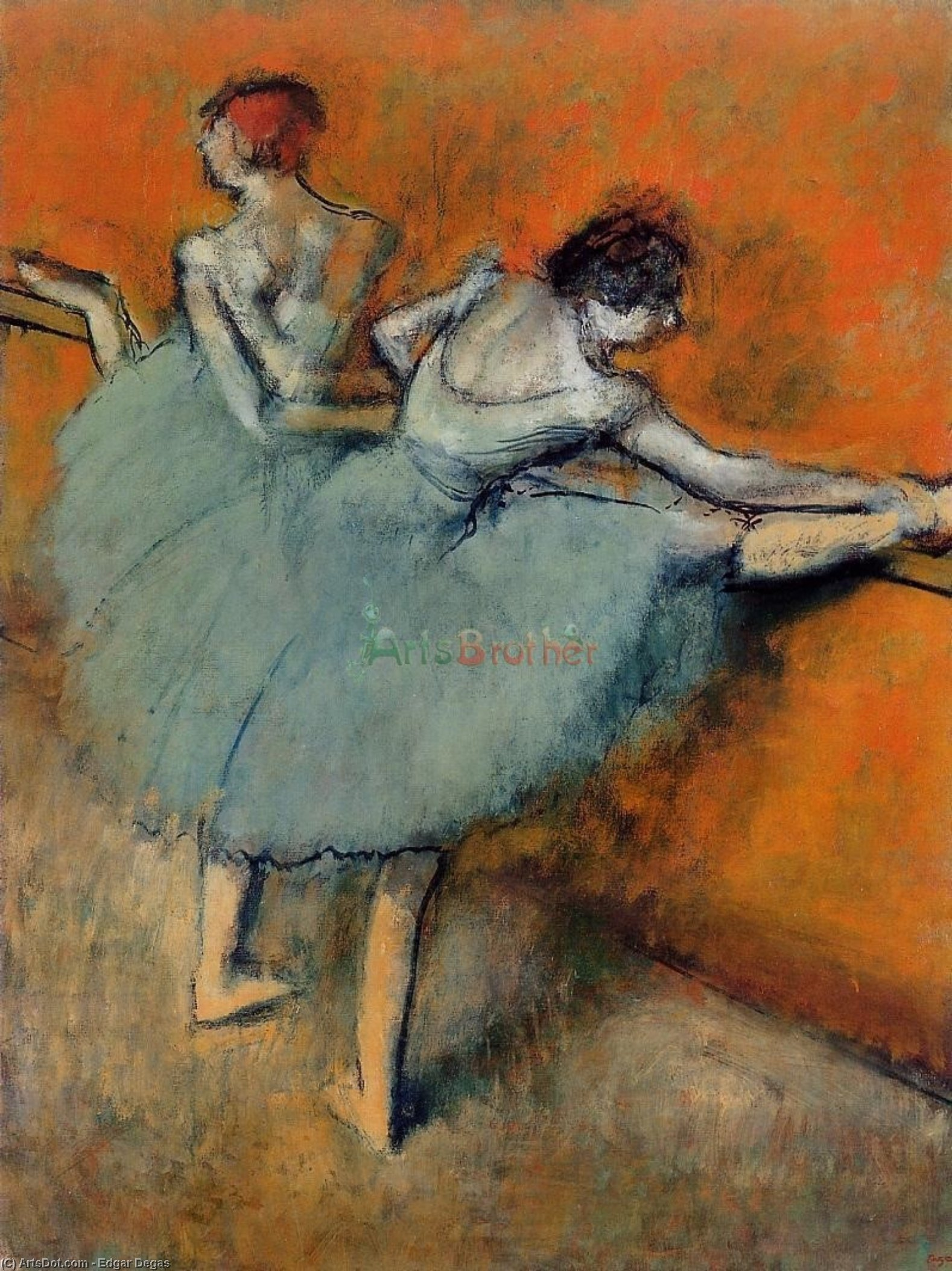 Dancers at the Barre 1, 1888 by Edgar Degas (1834-1917, France) | Oil Painting | ArtsDot.com